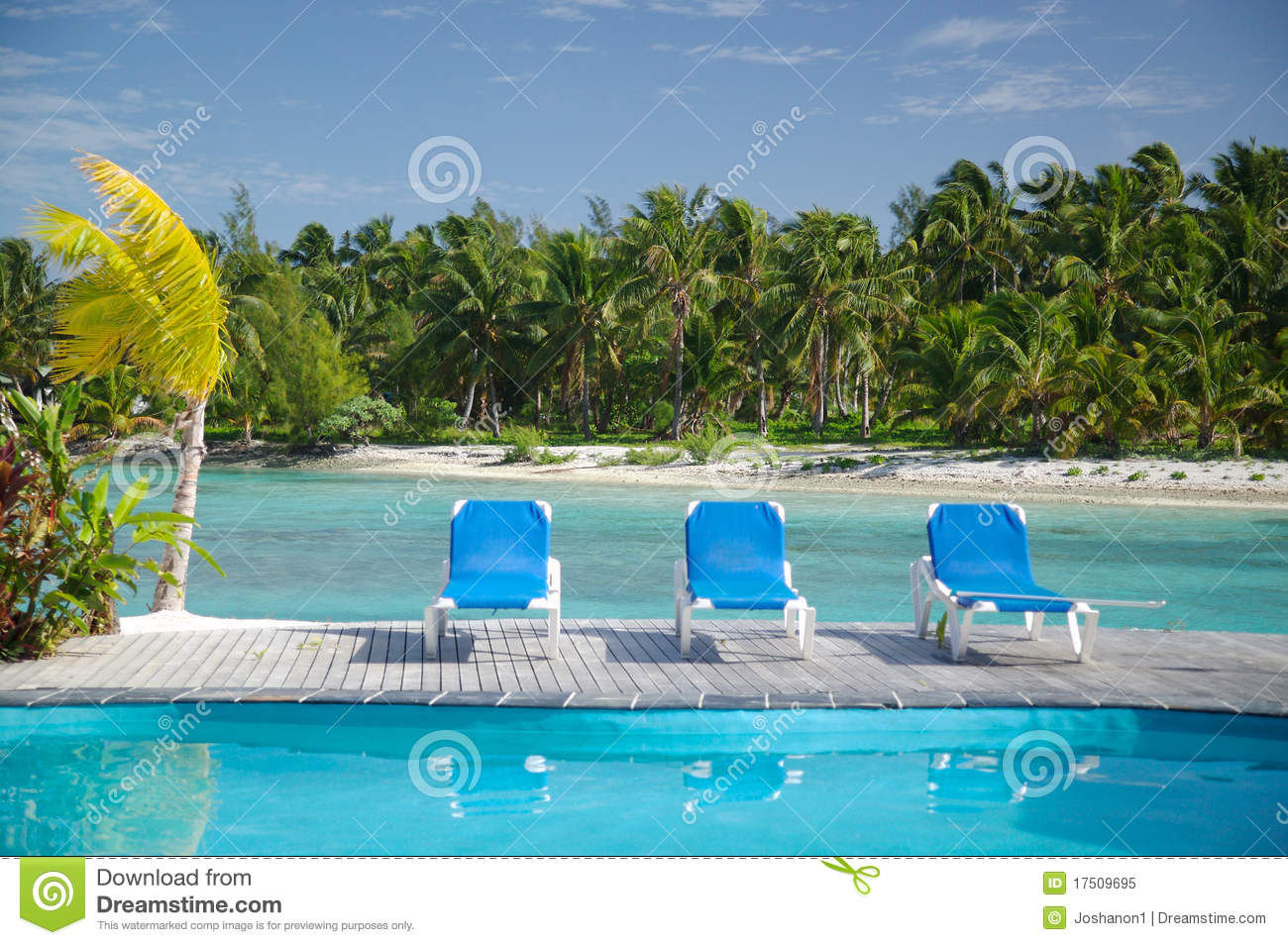 Miraculous Poolside Lounge Chairs At A Beach Stock Image Image Of Ncnpc Chair Design For Home Ncnpcorg