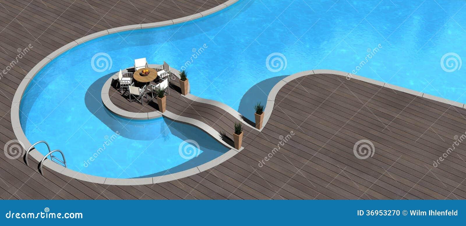 Poolside Stock Photo Image 36953270