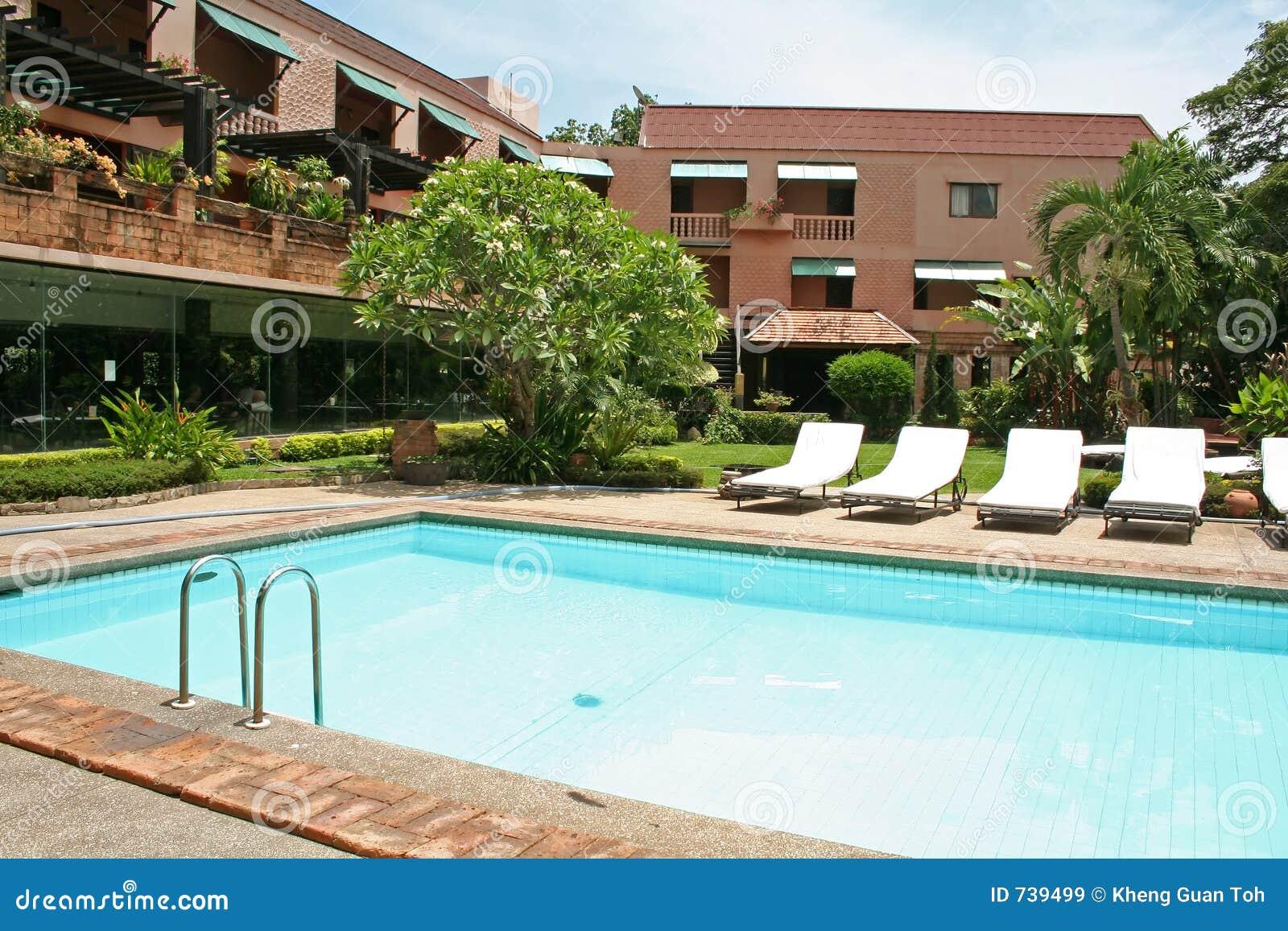 Poolside tropical