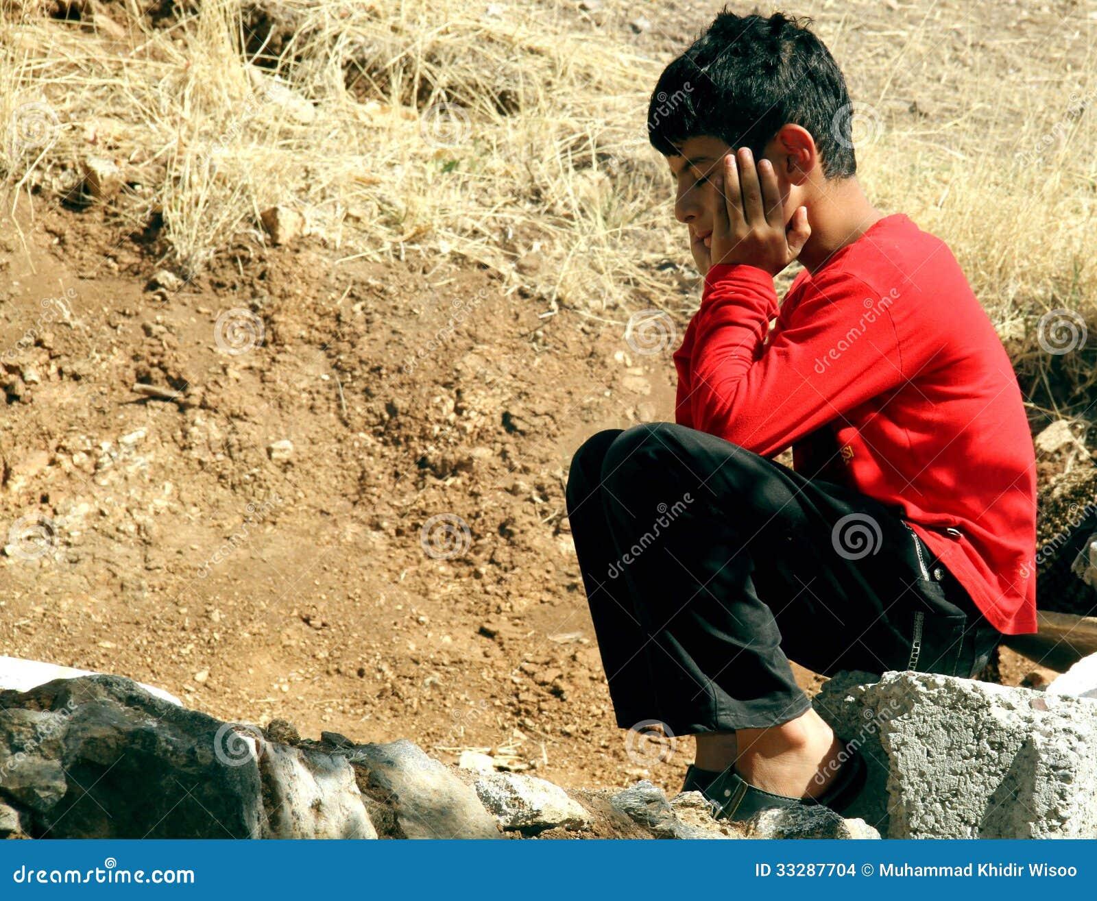 Poor Boy Editorial Stock Image