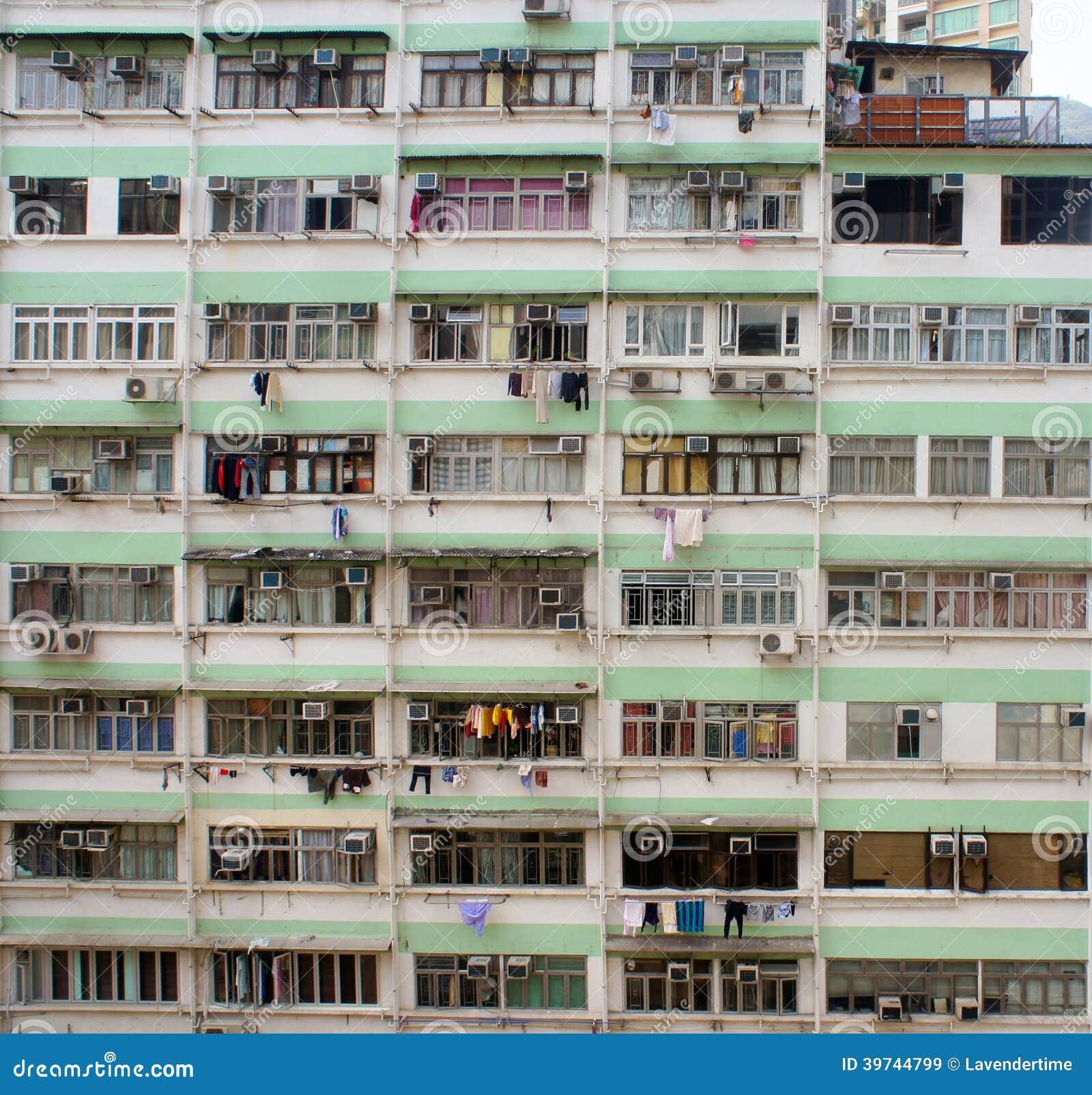 Poor Building Texture Stock Image Image Of Hong Windows 39744799