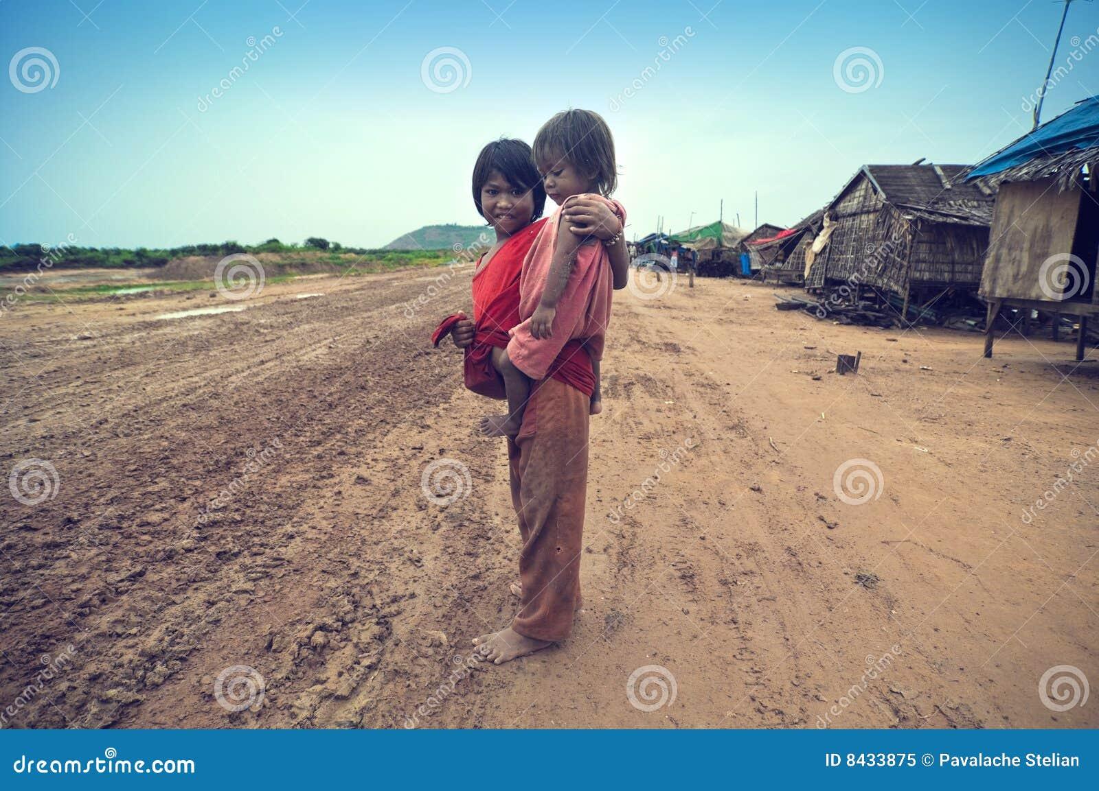 Poor cambodian kids