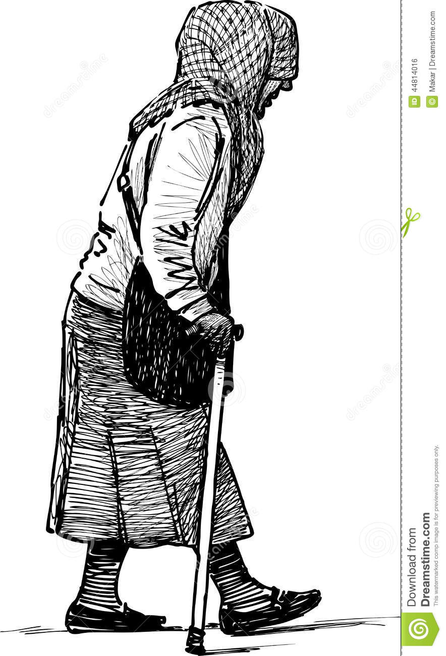 It is a photo of Gratifying Old Hand Drawing Of Woman