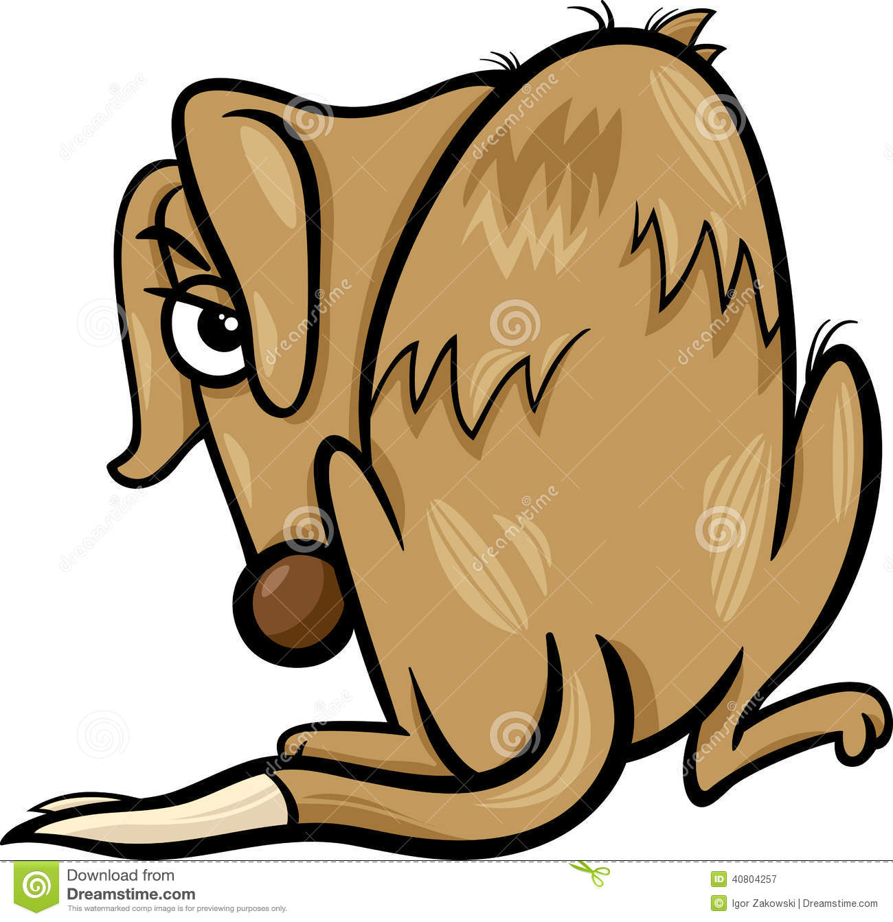 poor homeless dog cartoon illustration stock vector illustration rh dreamstime com sad dog cartoon story sad dog cartoon droopy