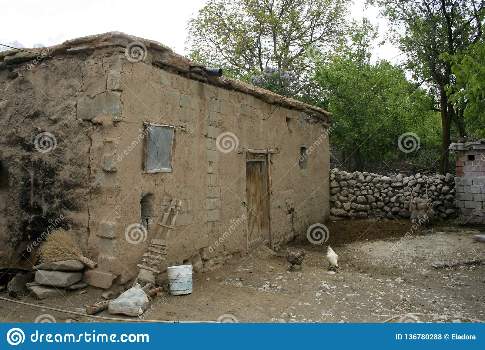 A poor house in village
