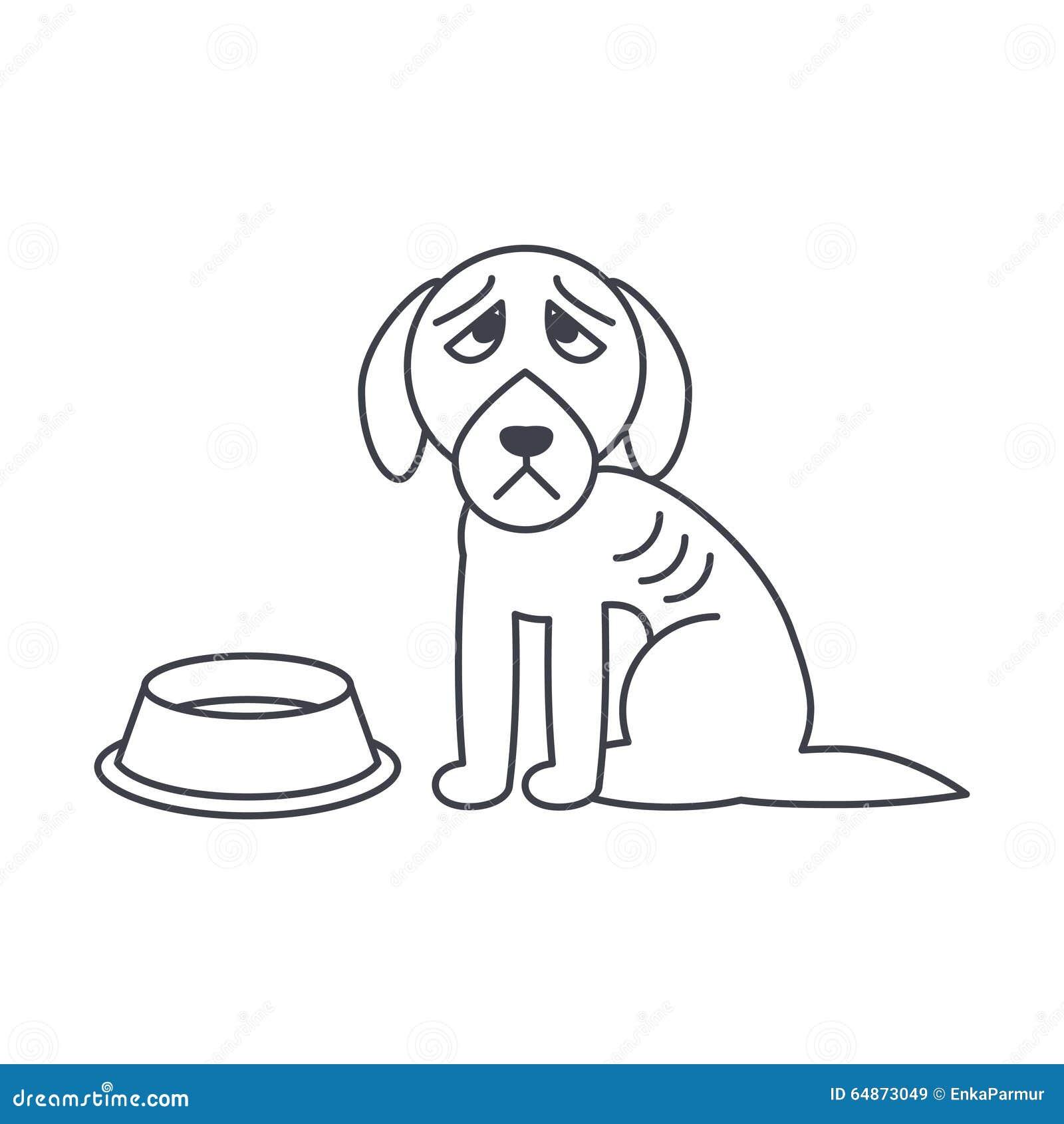 dog bowl outline