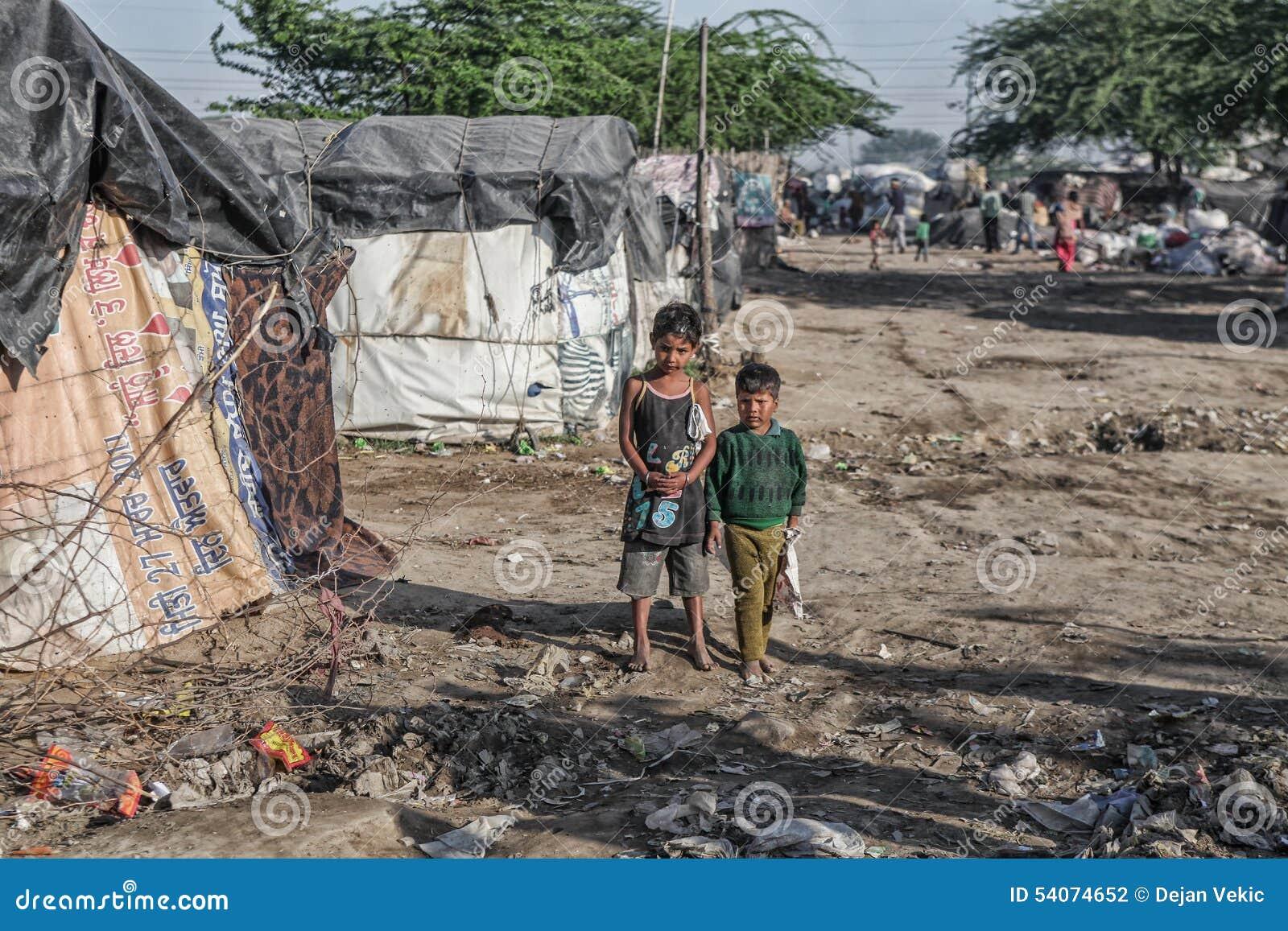 kids poor Poor kids at their home