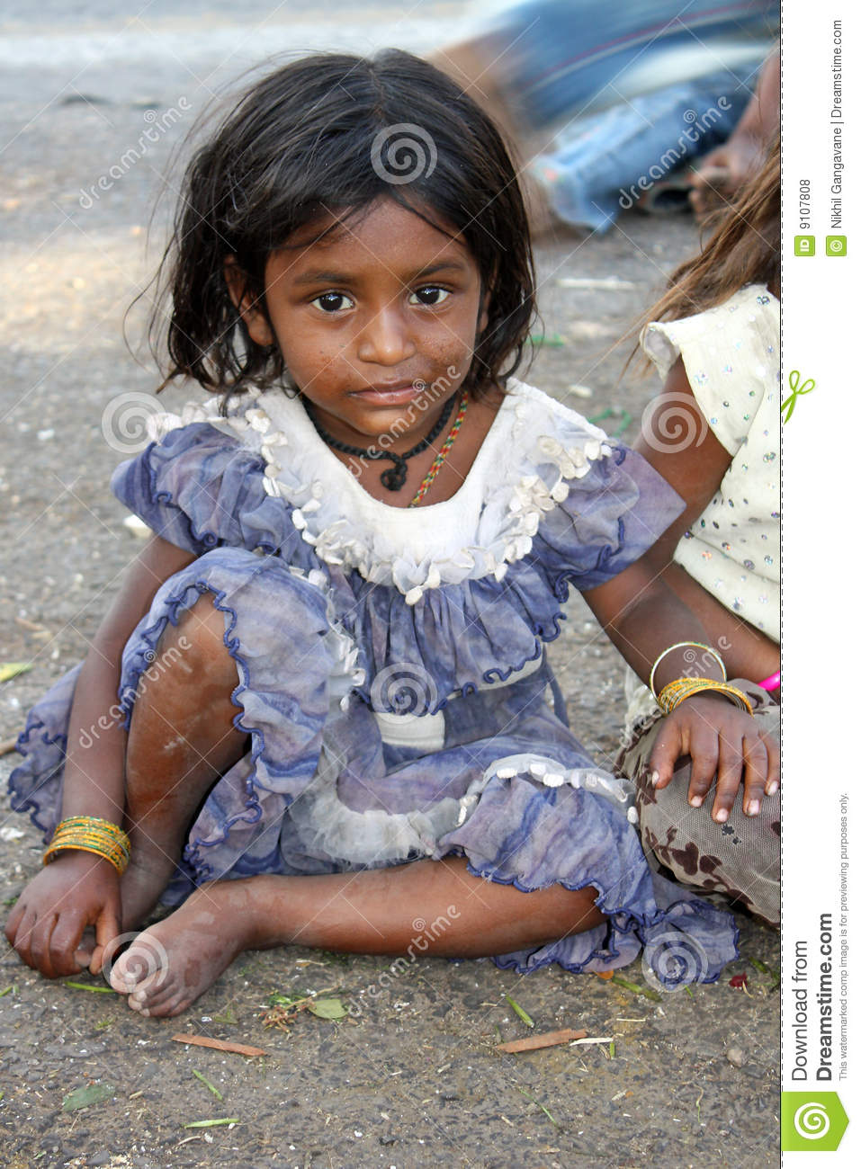 Poor Little Girl Royalty Free Stock Photos - Image: 9107808