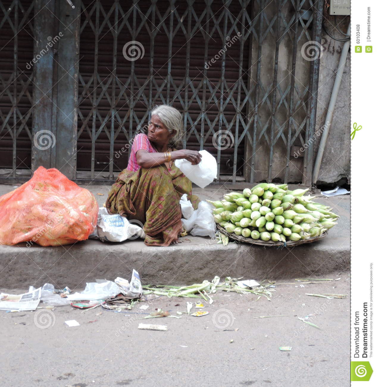 Disabled Bangalore India September 27 2015 This Photo Of Poor Old Woman Selling Corn Depicts Poor Economic And Inhuman Working Conditions Of People Living In Dreamstimecom Poor Old Woman Selling Corn In The Streets Editorial Stock Photo
