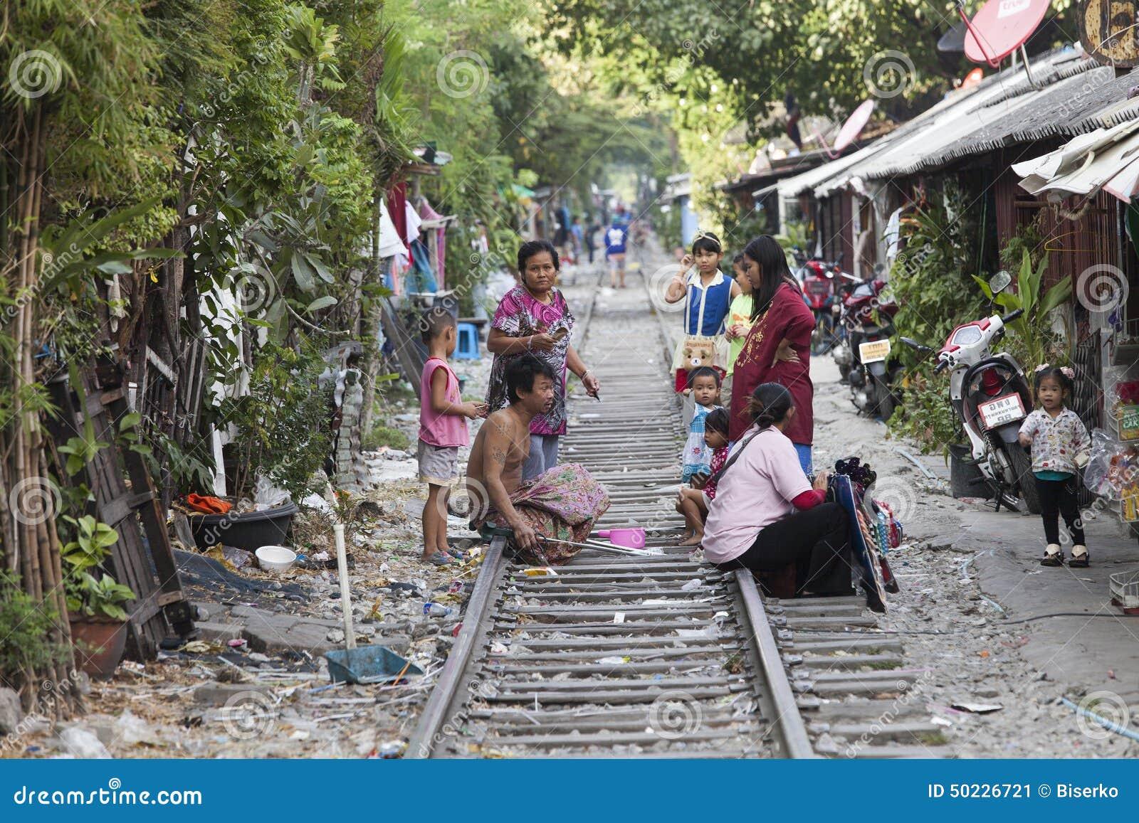 Poor People In Bangkok Editorial Photo Cartoondealer Com