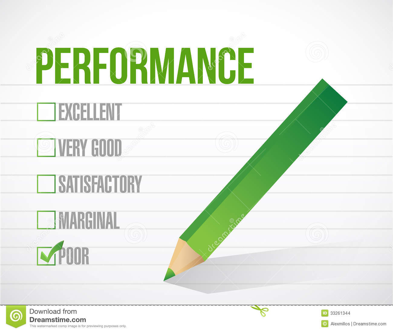 Bad Performance Review Clipart
