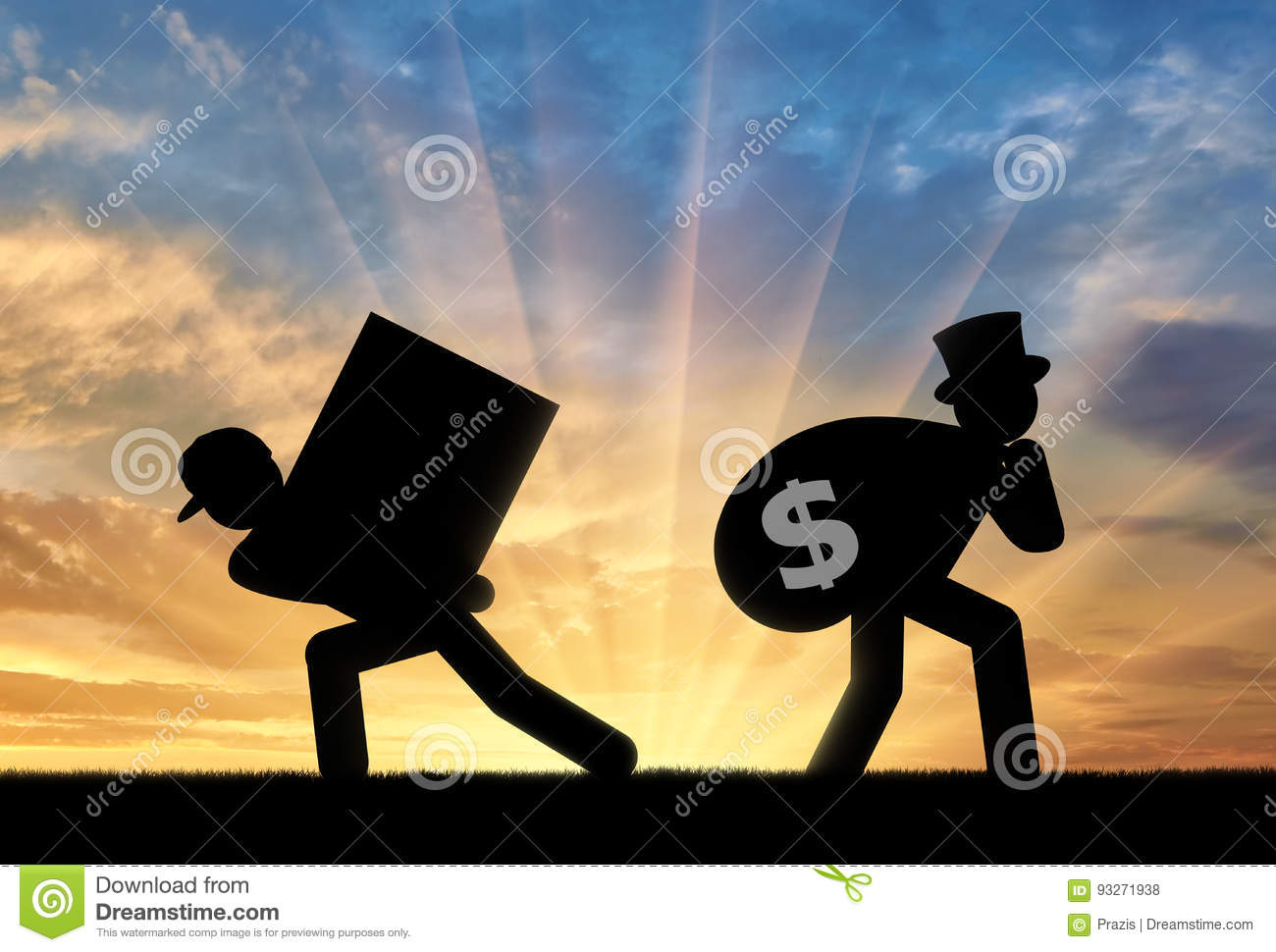 Poor worker and the rich businessman