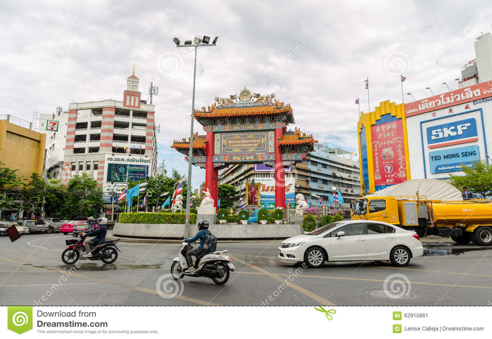 Poort van Chinatown in Bangkok, Thailand