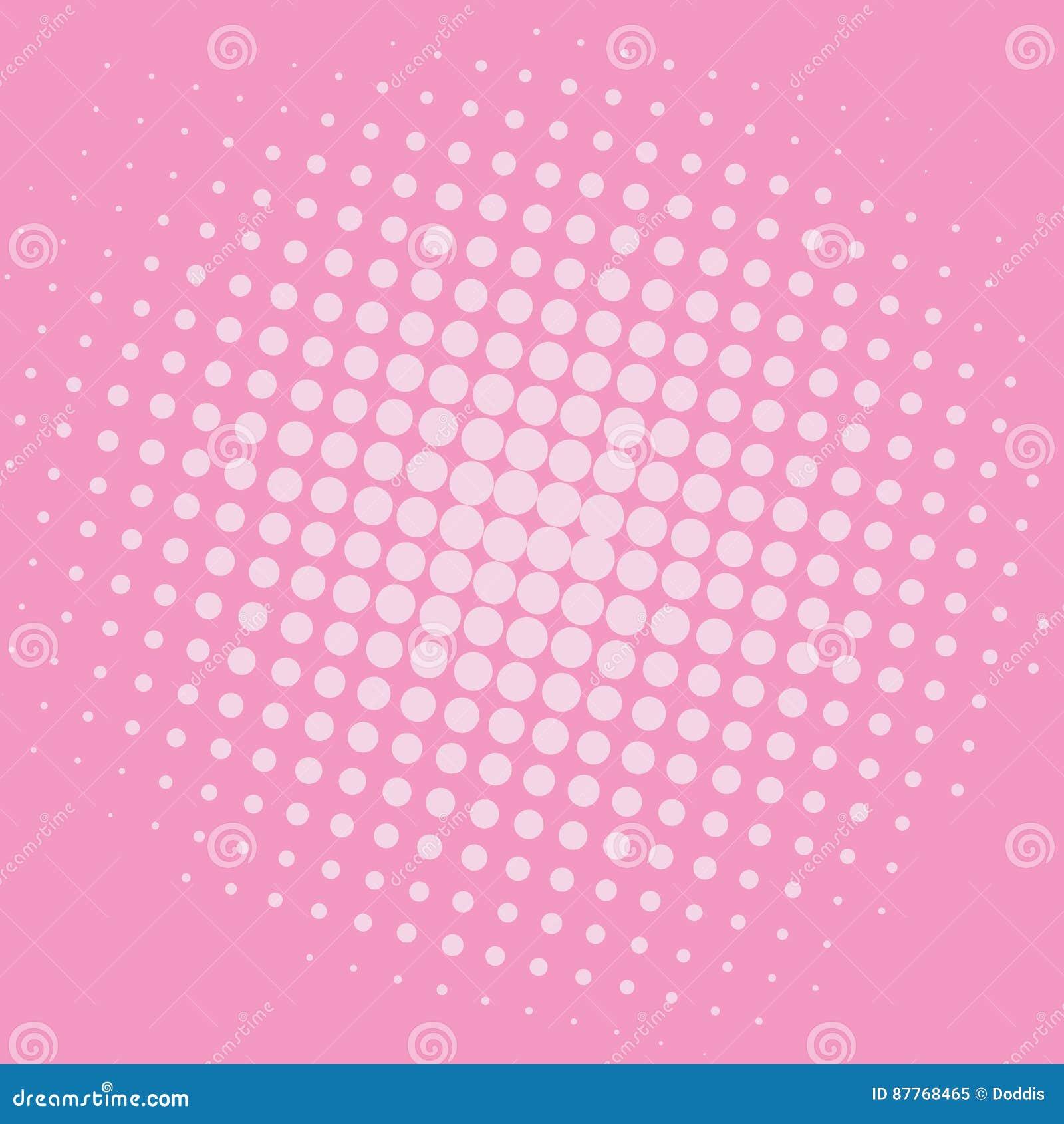 pop art baker-miller pink dots comic background vector template
