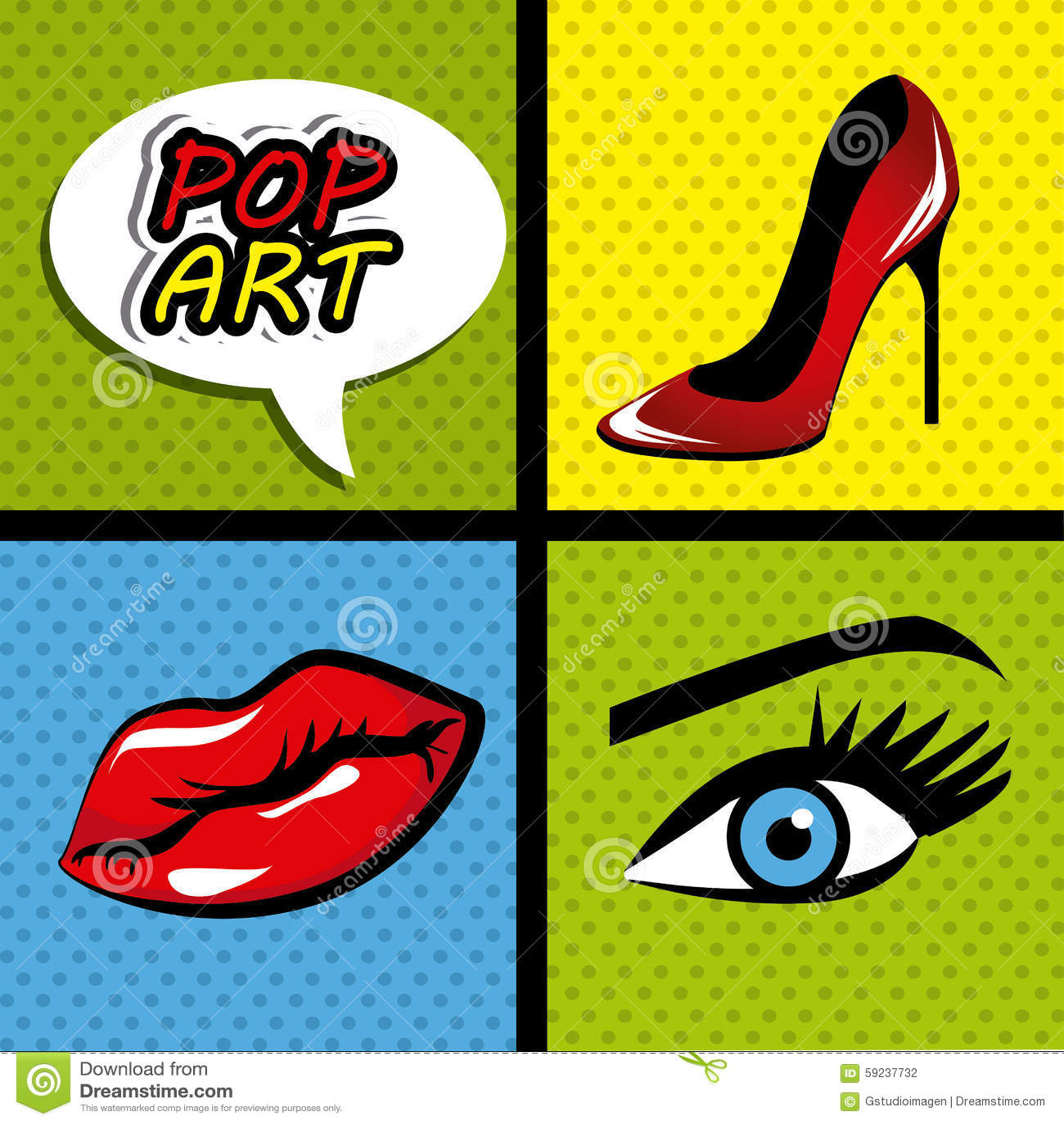Pop Art Cartoon Graphics Stock Illustration Illustration Of Human