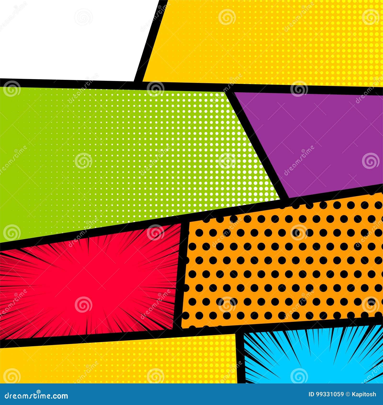 Download Pop Art Comic Book Strip Background Stock Vector