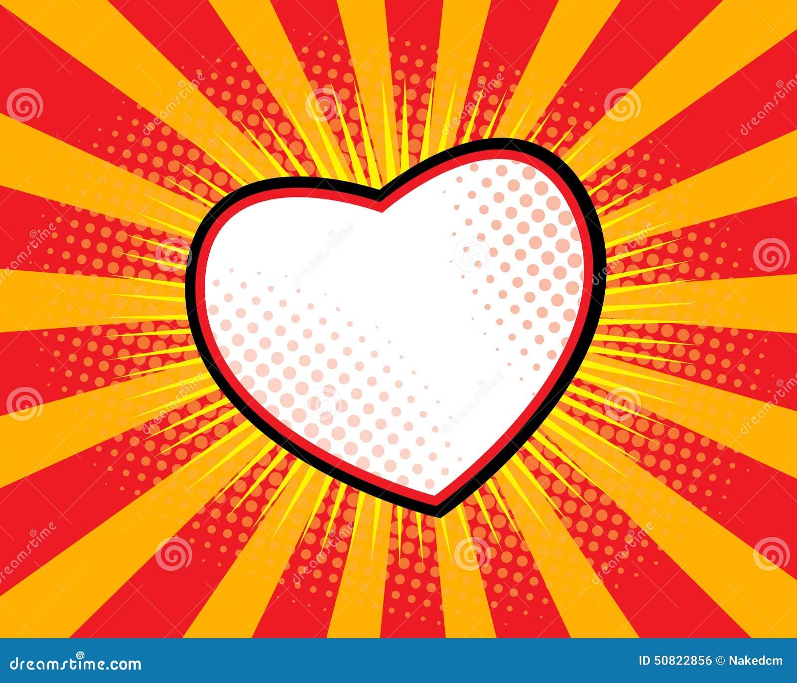 Pop art da forma do coração