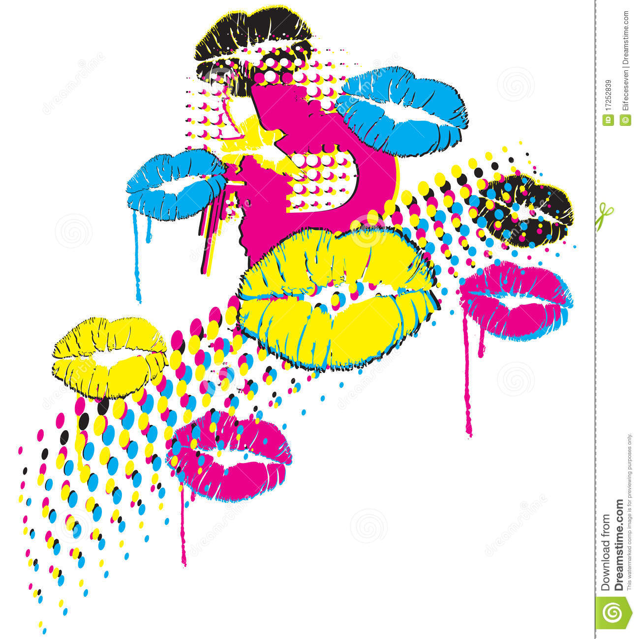 pop art design stock vector image of cmyk blank textile 17252839. Black Bedroom Furniture Sets. Home Design Ideas