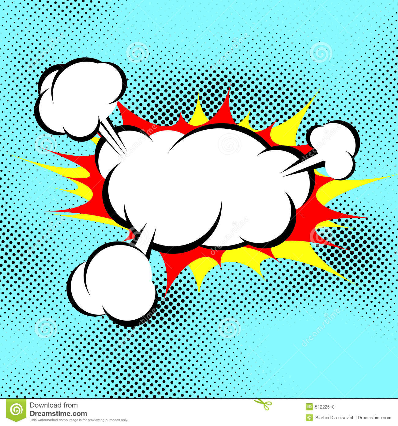 Calendar Maker Art Explosion : Pop art explosion boom cloud comic book background stock
