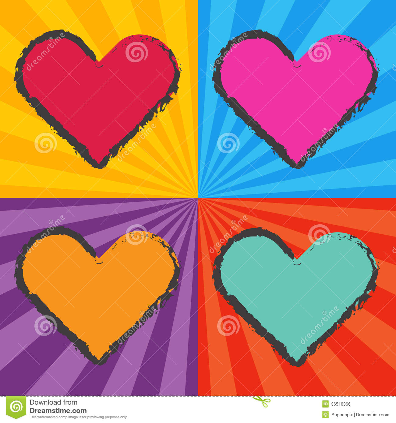 Pop Art Heart Royalty Free Stock Image - Image: 36510366