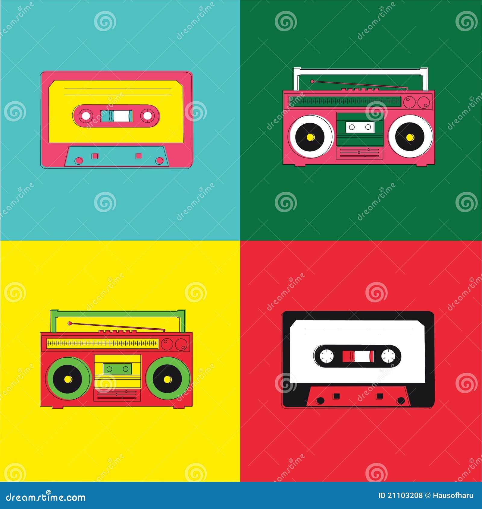 Boombox Pop Art Pop Art Radio Cassette