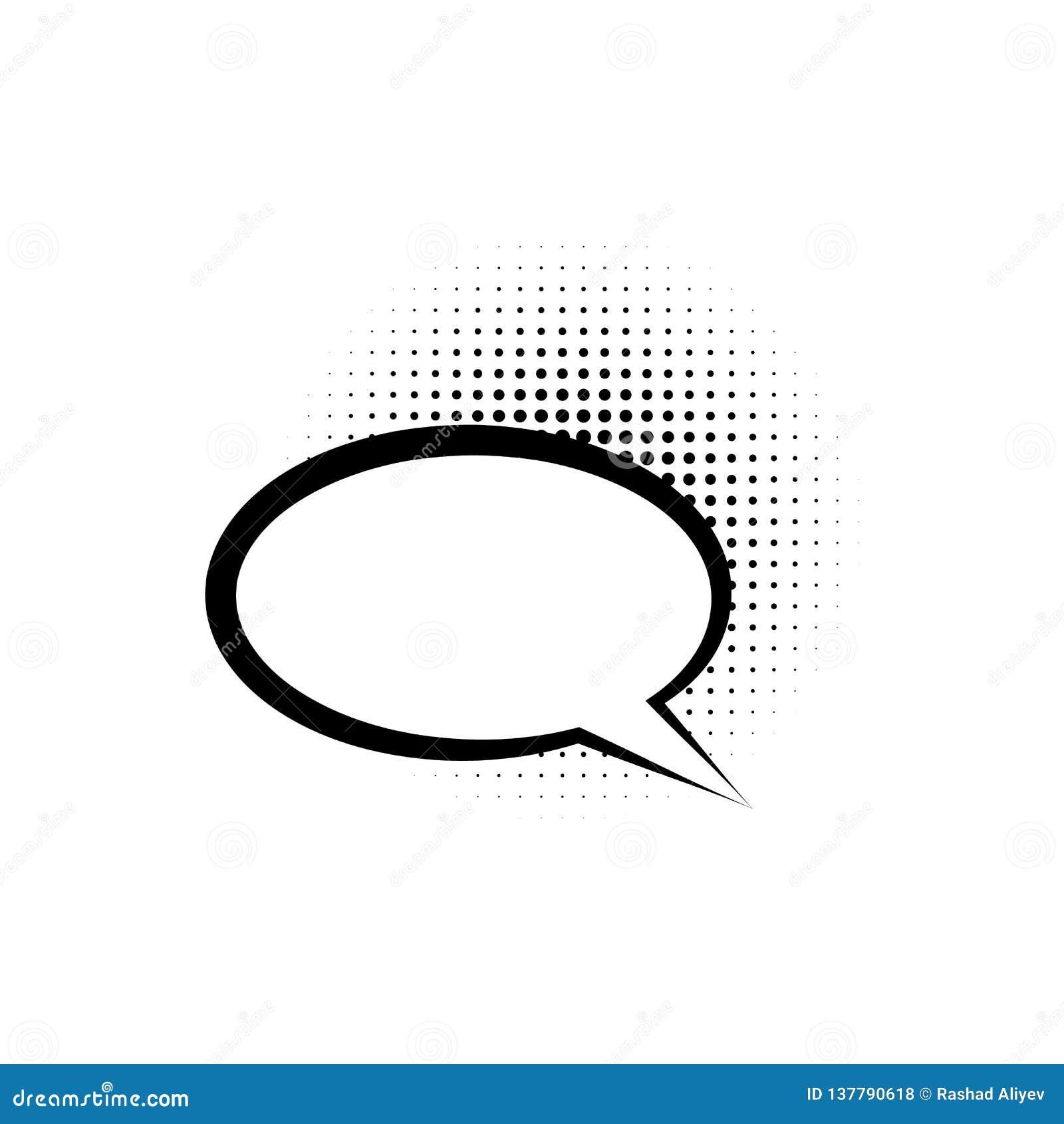Pop-Art, Spracheblasenikone Element der Pop-Arten-Artikone der Spracheblase IC Zeichen und Symbolsammlungsikone für Website, Netz