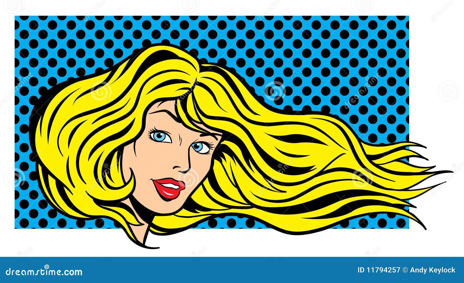 pop art woman face stock vector illustration of girl 43386483