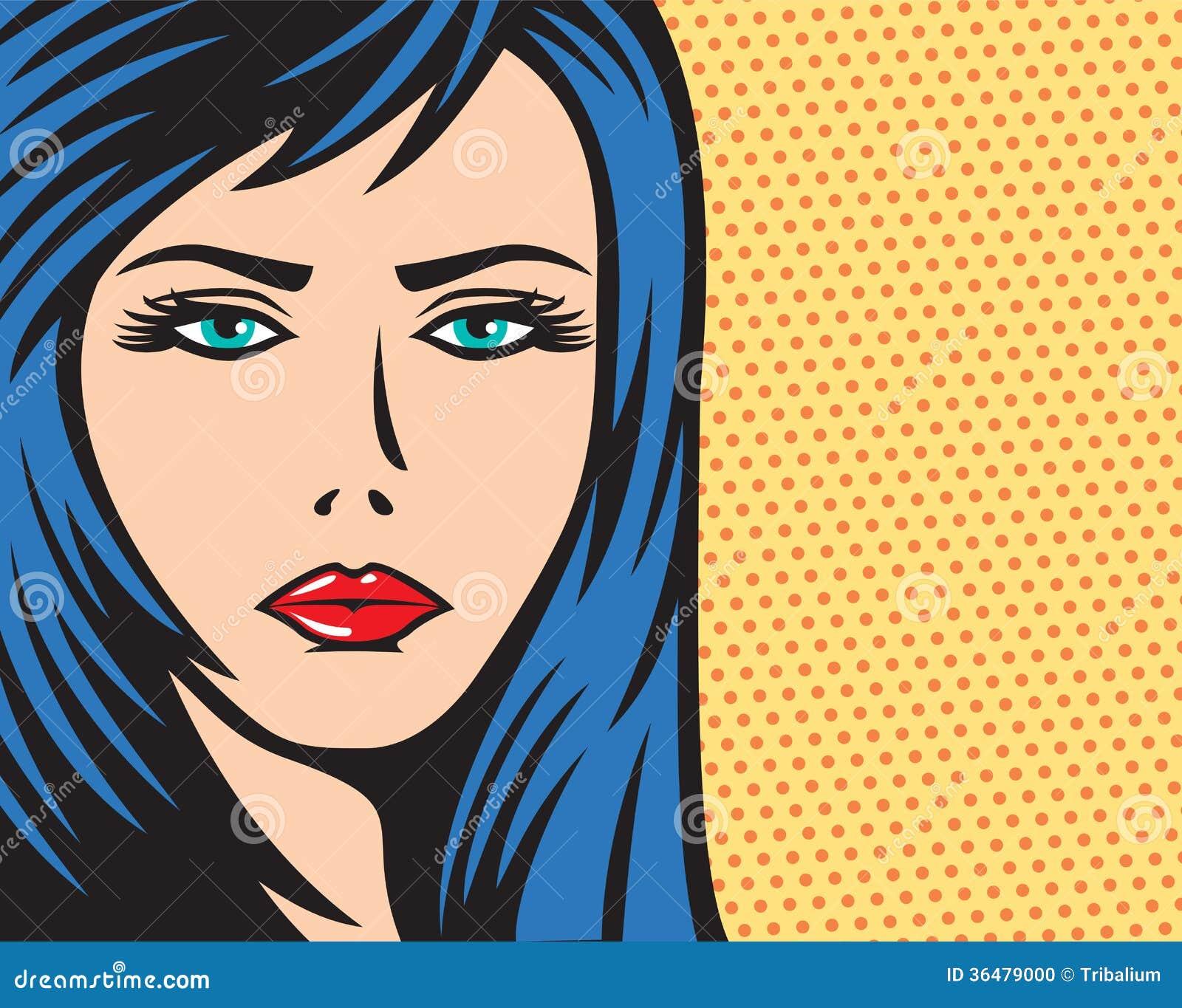 art decco facial illustrations