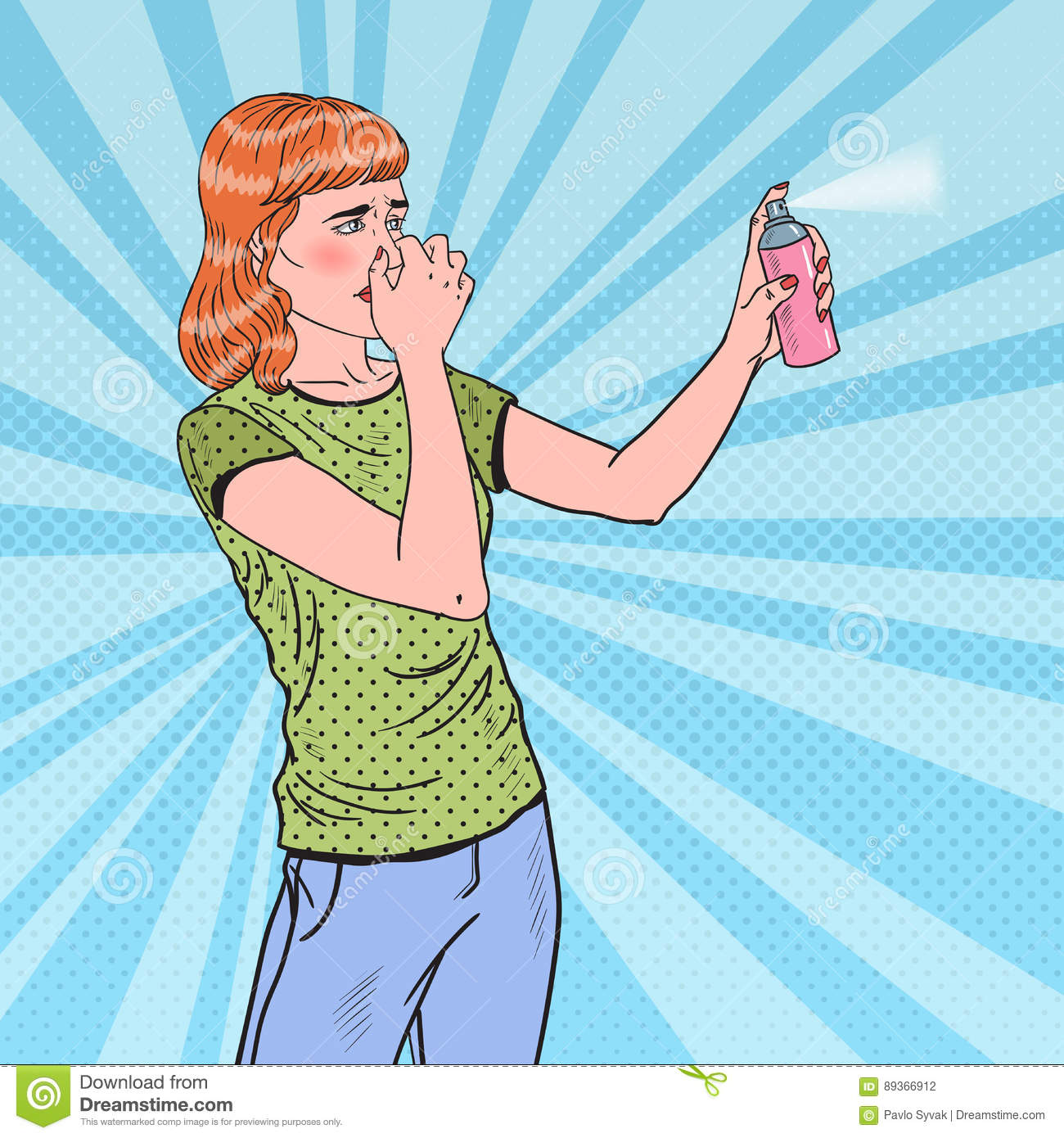 Canned Air Painting : Spraying cartoons illustrations vector stock images
