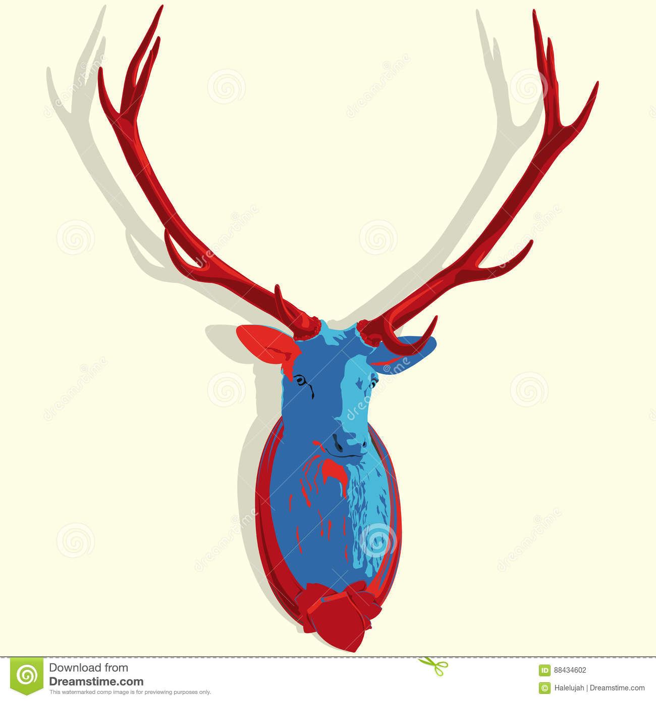 Majestic Red Deer Stag Hunting Trophy Stock Photo - Image of mammal ...