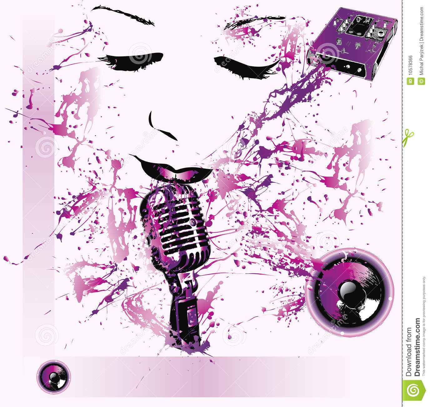 Pop music background stock vector  Illustration of artwork