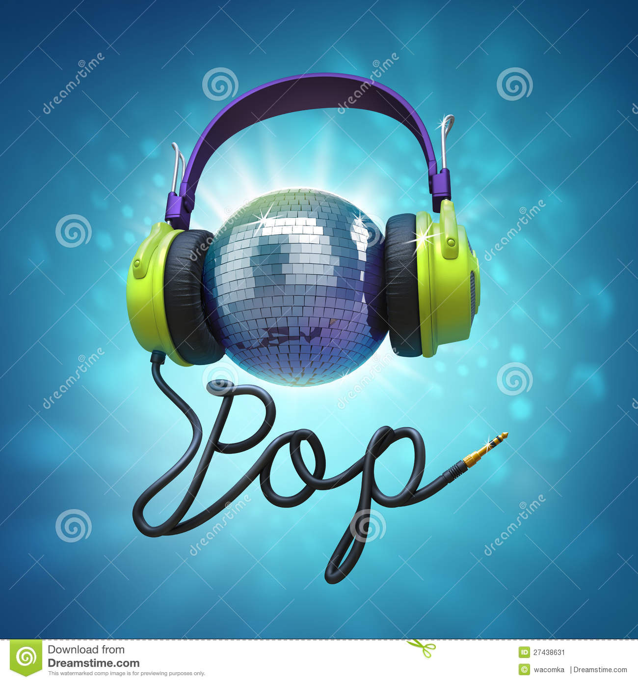 Pop Music Headphones Stock Image - Image: 27438631