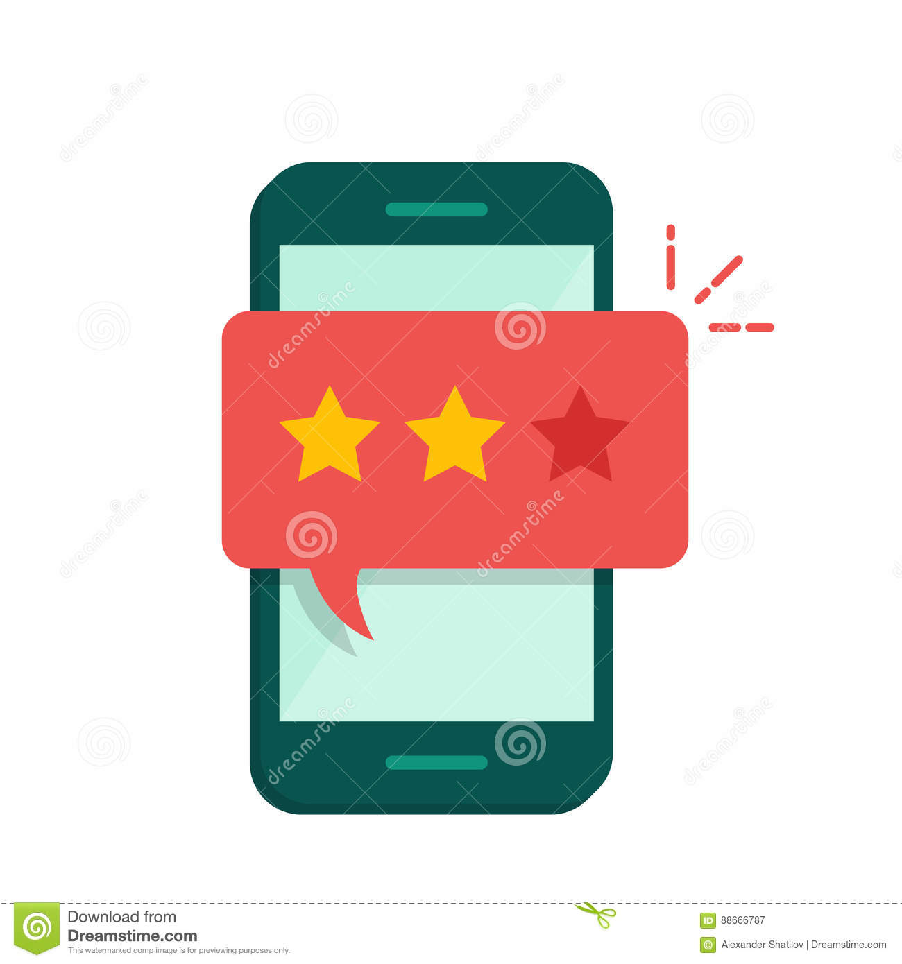 Pop-up Dialog Box On The Mobile Phone With A Suggestion To