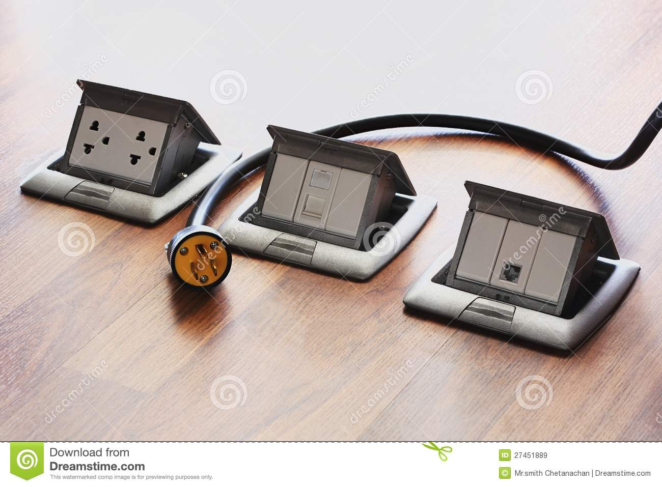 pop up floor socket stock image image of metal wire 27451889 rh dreamstime com Wiring a Outlet Plug Wiring a Outlet Plug