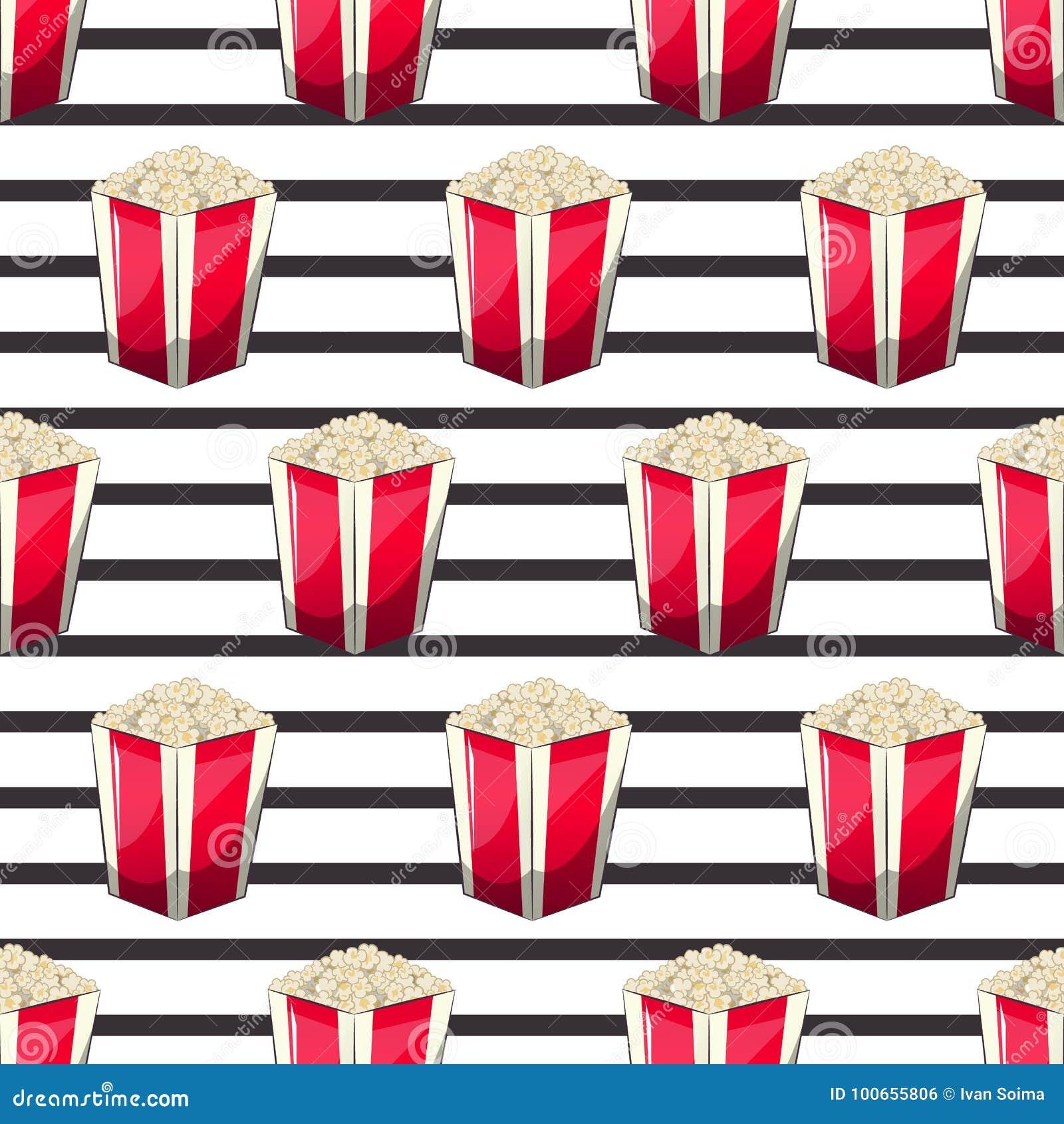Popcorn είναι απομονωμένο σε ένα κιβώτιο περιτυλιγμάτων λουρίδων για τα προϊόντα σας, ένας κάδος ορεκτικών όταν προσέχετε τους κι