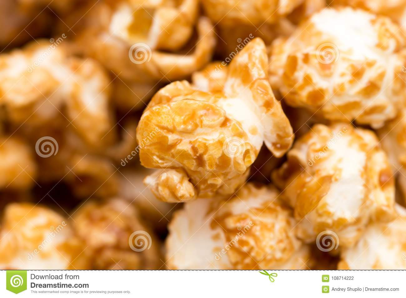 Popcorn as a background. macro