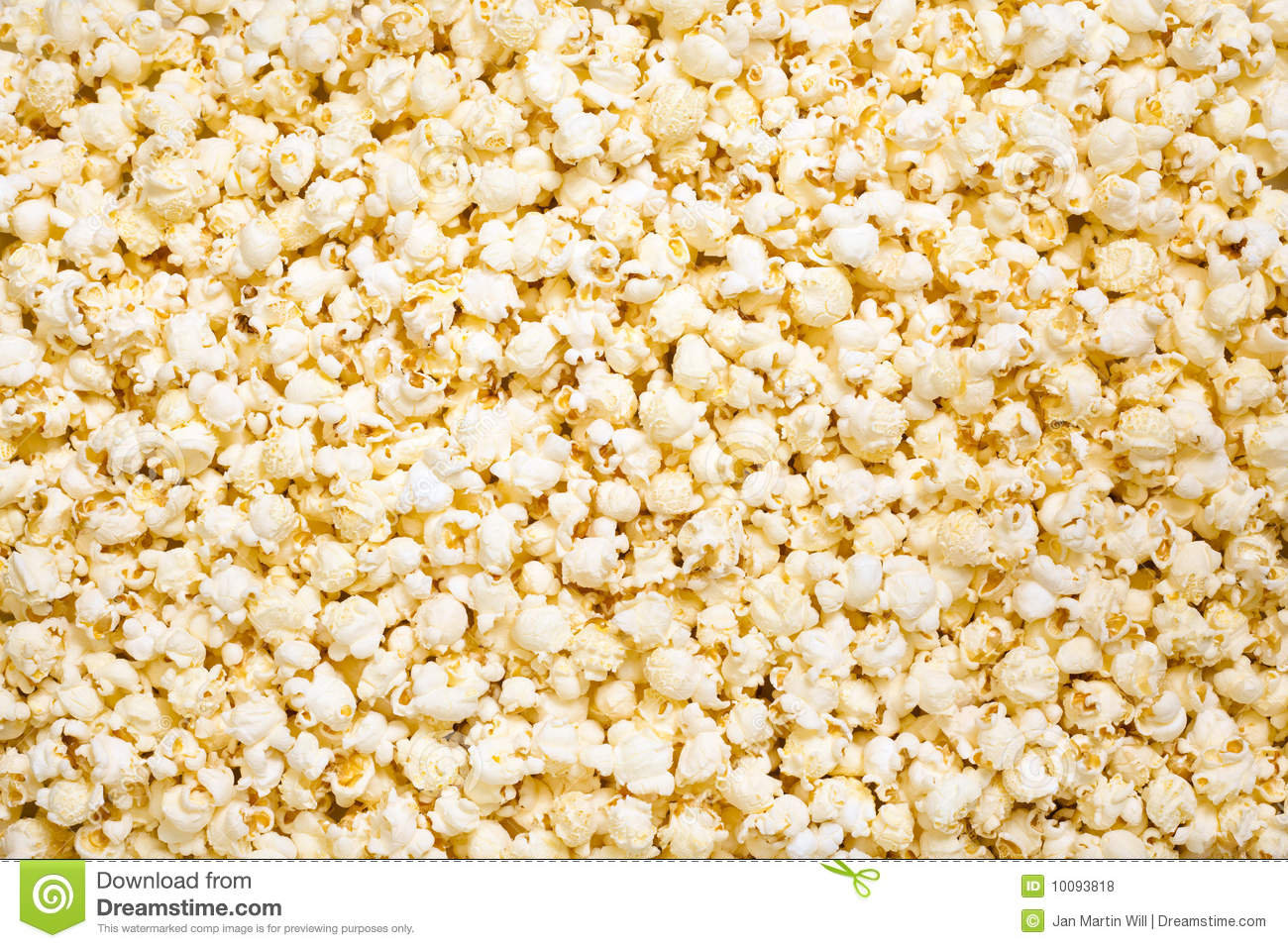 Freshly cooked, hot popcorn, suitable for an abstract background.