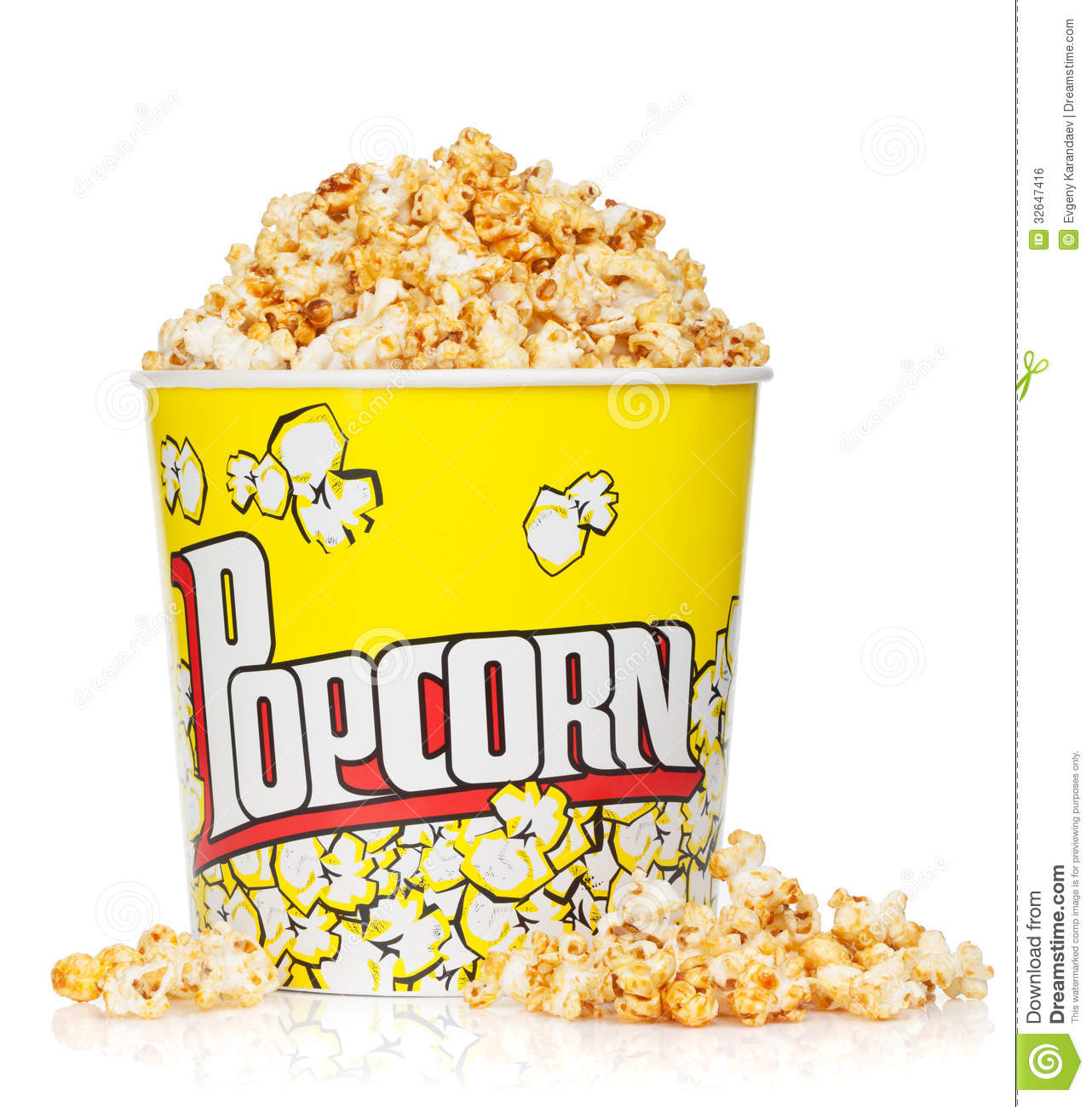 Popcorn box stock photo. Image of white, image, film ...