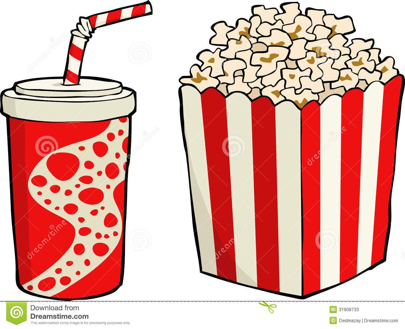 Vector christmas candy pictures - Popcorn Stock Photos Image 31908733