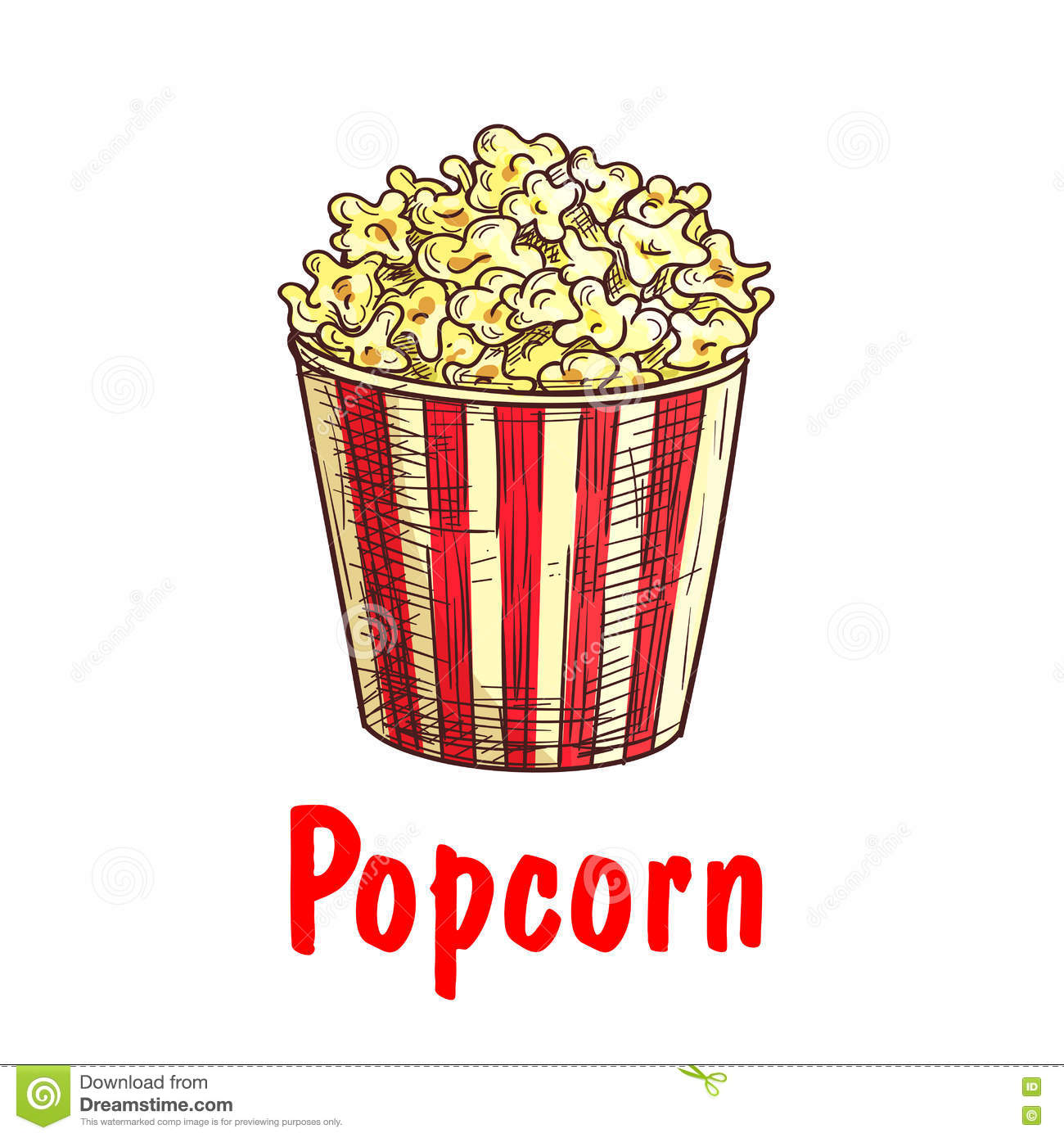 the gallery for gt empty popcorn bucket clipart