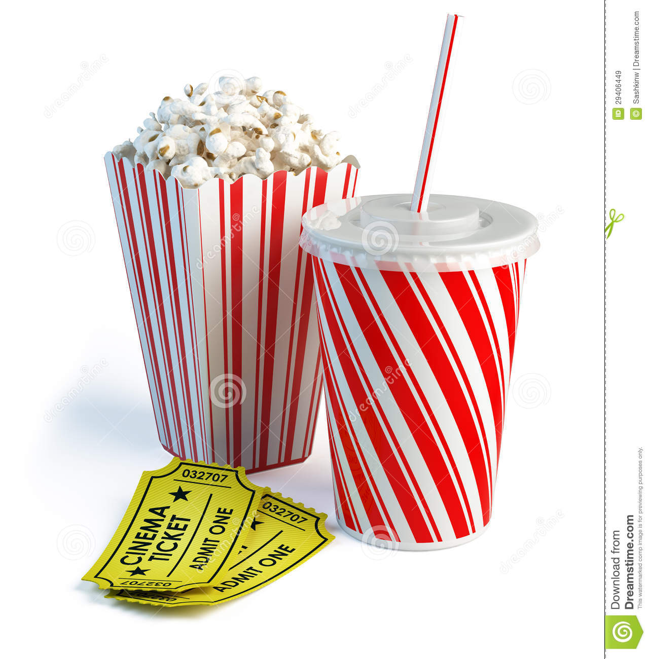 ... , Cola And Cinema Tickets Royalty Free Stock Images - Image: 29406449