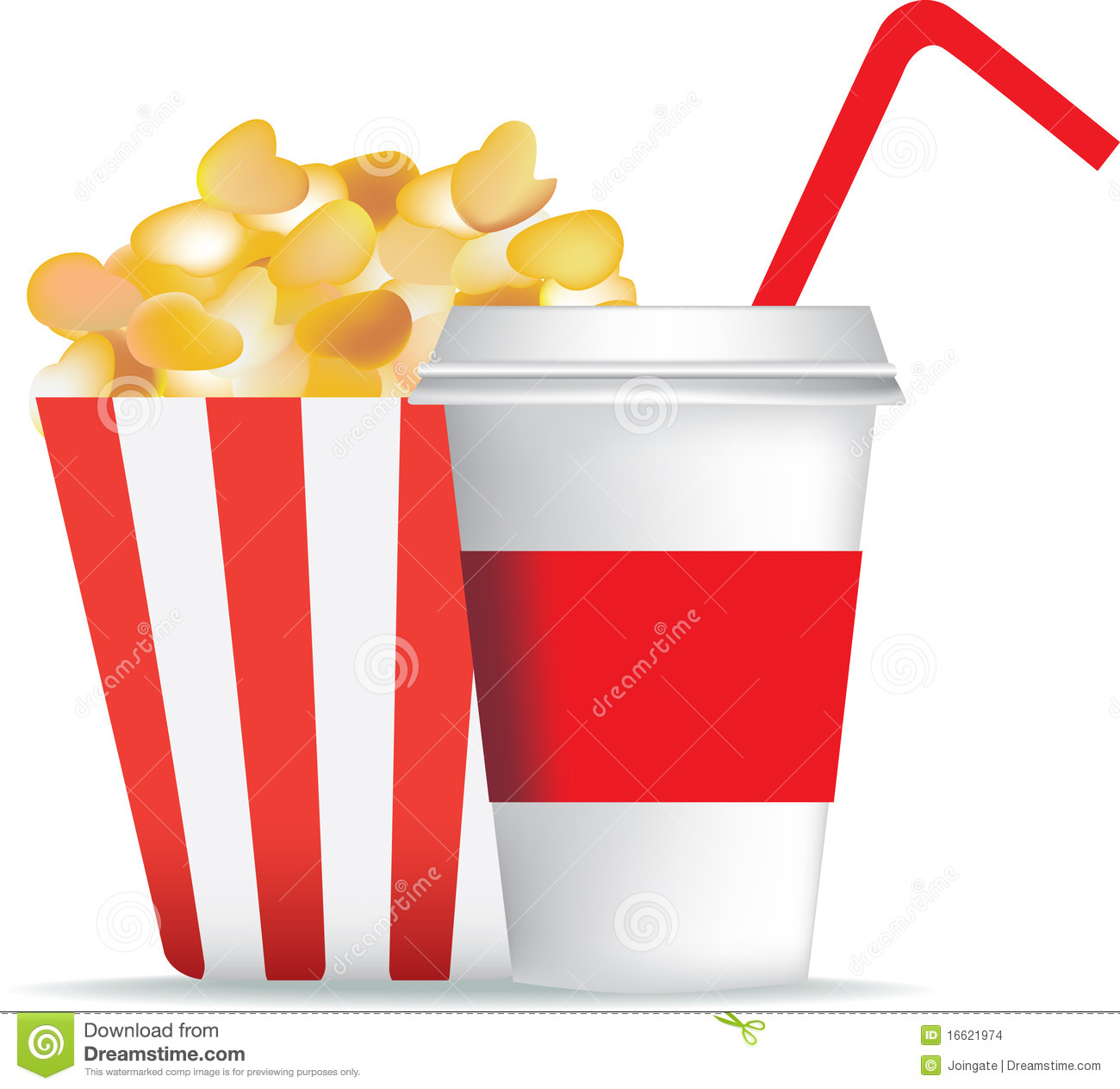 Popcorn And Drink Stock Images - Image: 16621974