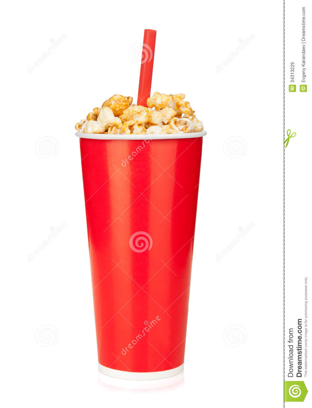 Popcorn In Fast Food Drink Cup Royalty Free Stock Images ...