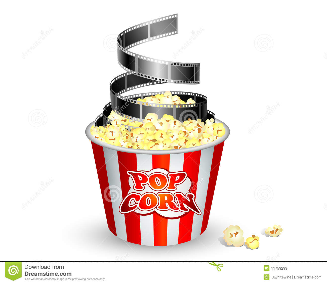 Popcorn And Film Stock Photos - Image: 11759293