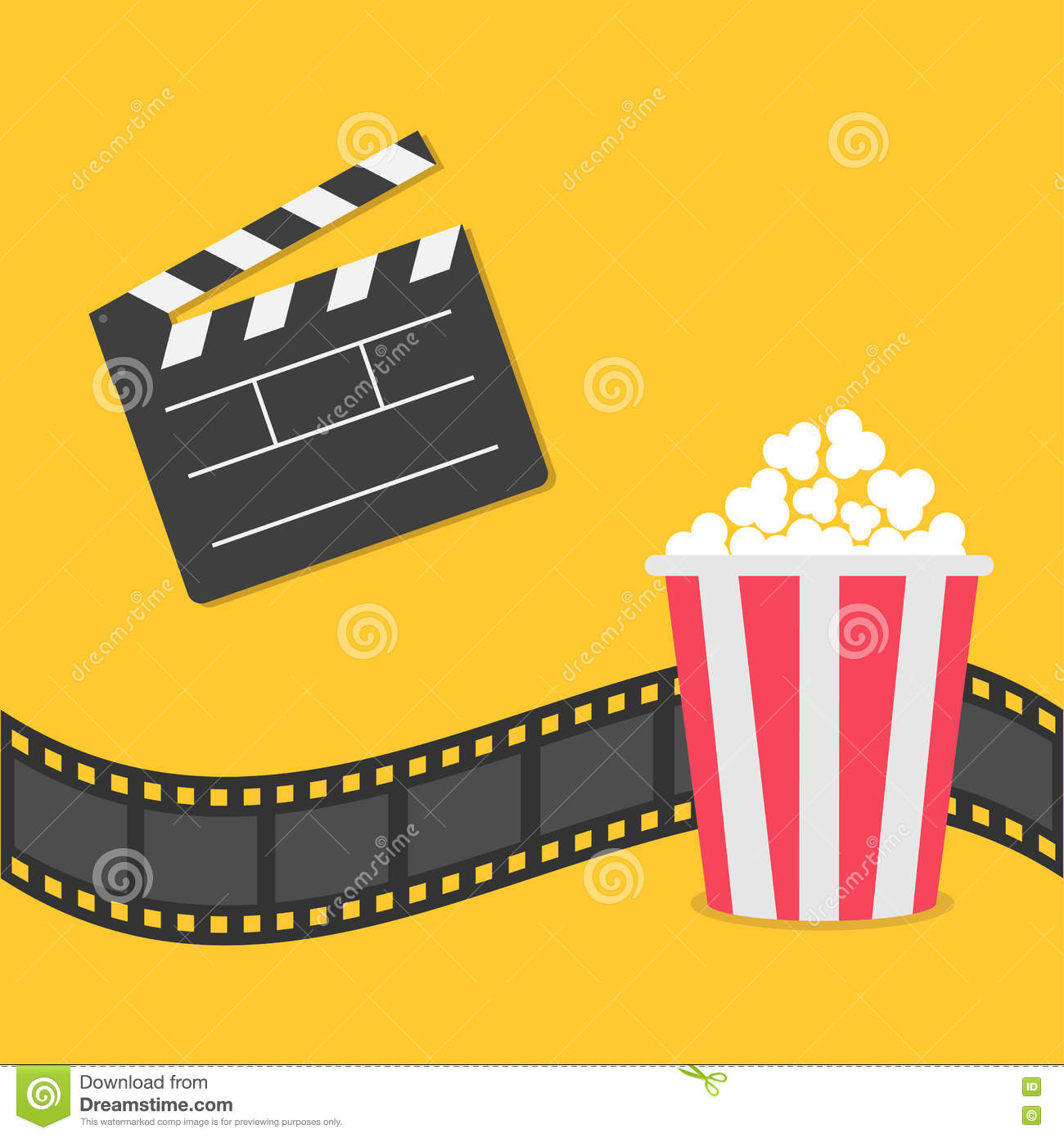 Cinema Night Illustration Vector Illustration ...