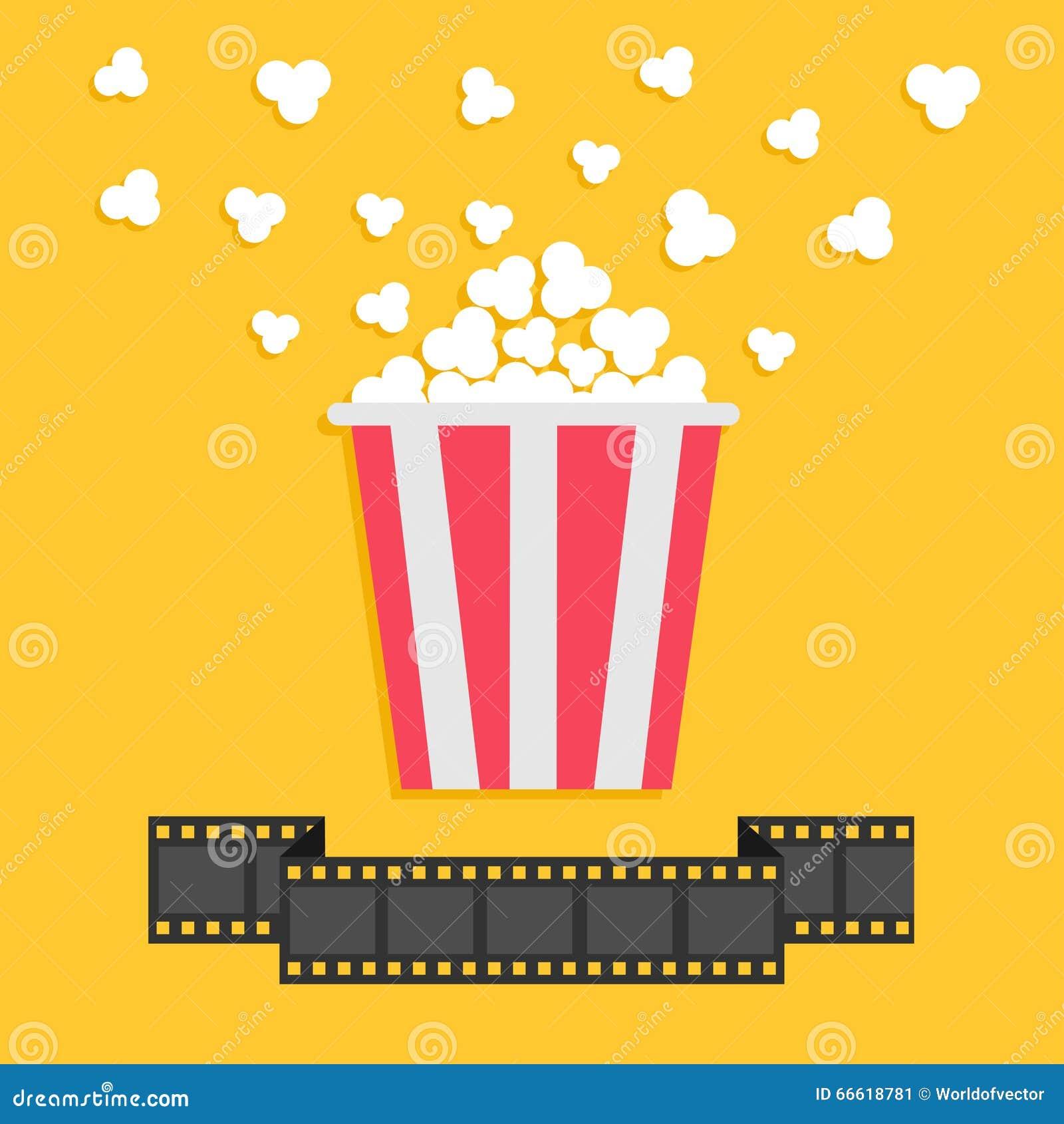 popcorn film strip ribbon line red yellow box cinema film strip clip art images film strip clip art no border