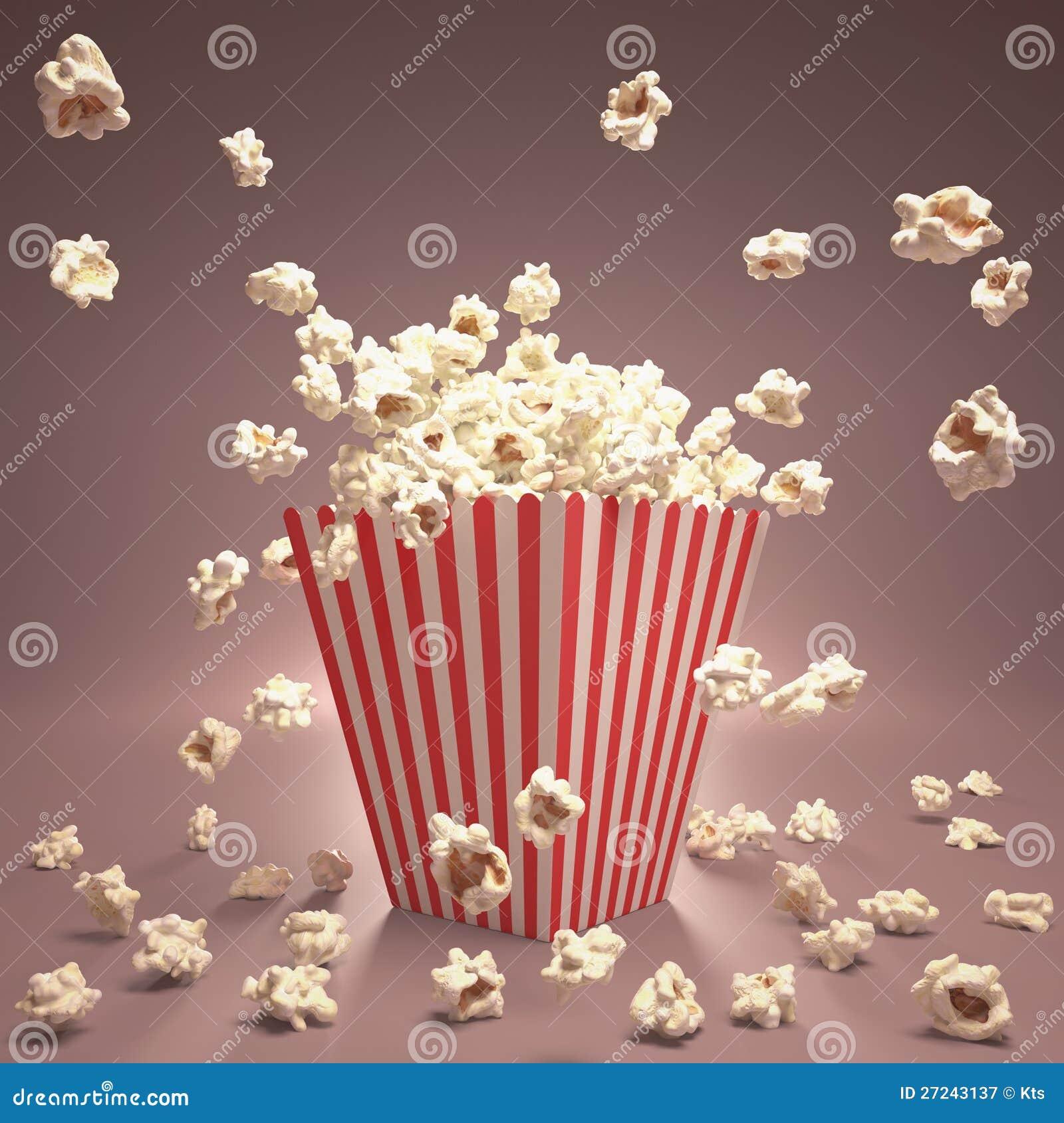 Popcorn Flying Royalty Free Stock Photography - Image: 27243137