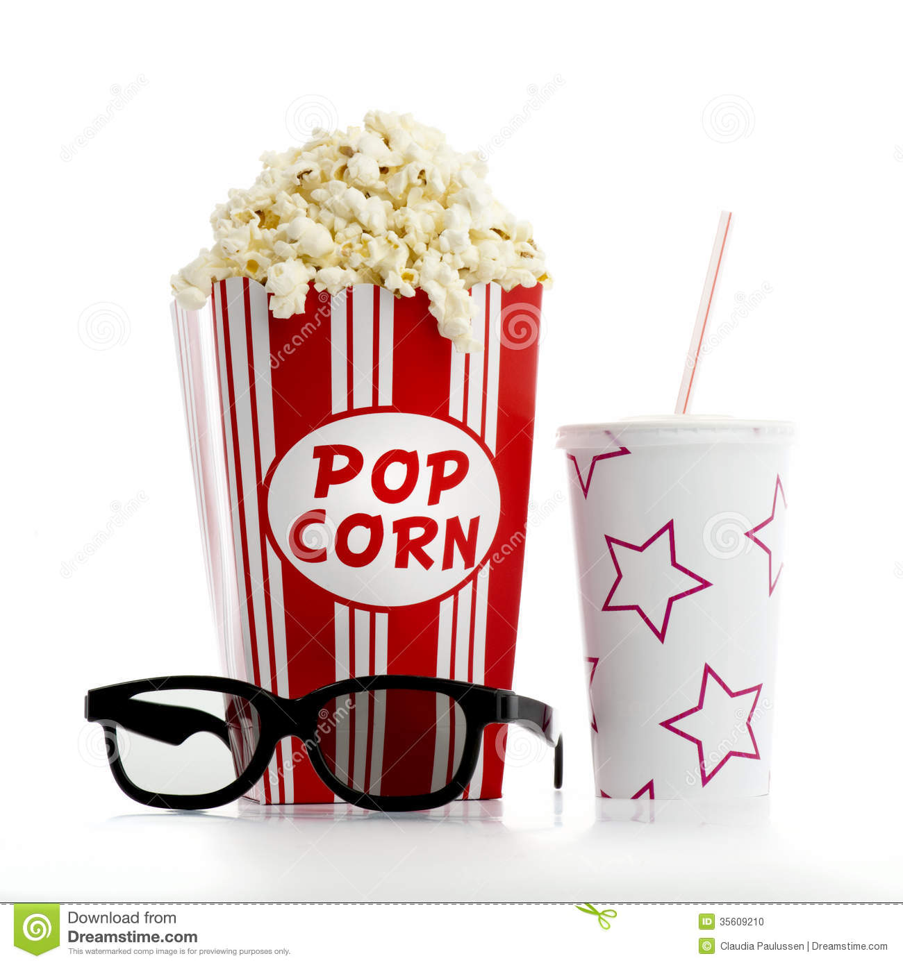 Snack clipart image popcorn and a soda pop drink image #18894