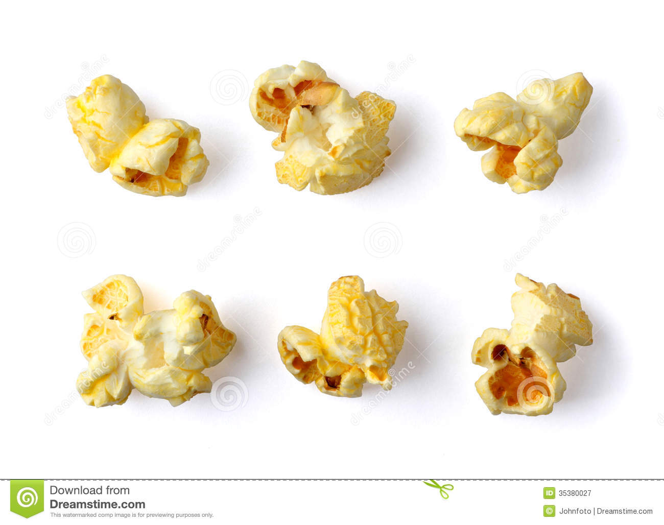 Piece Of Popcorn Clipart Popcorn isolated on white