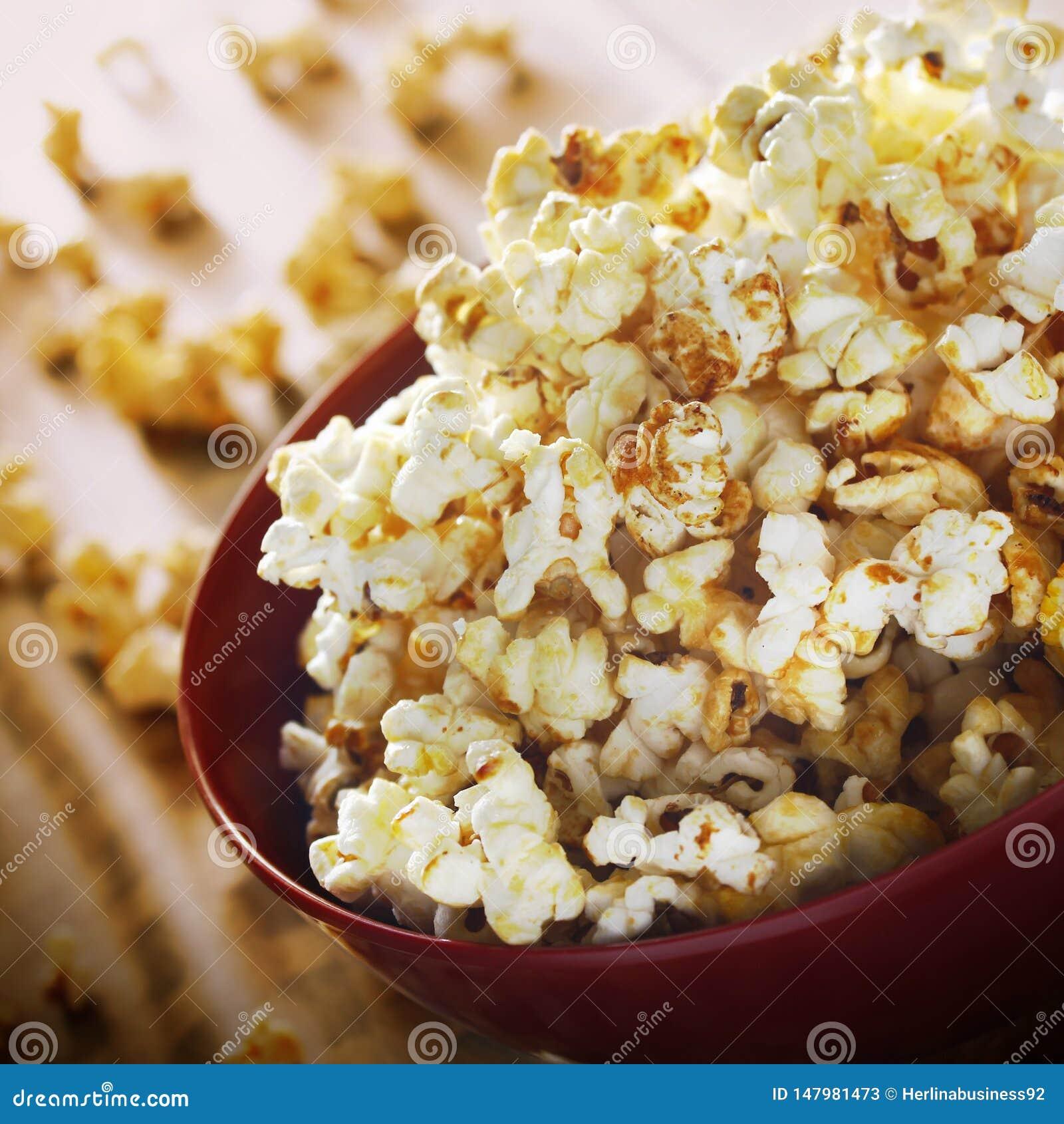 Popcorn in komfotografie